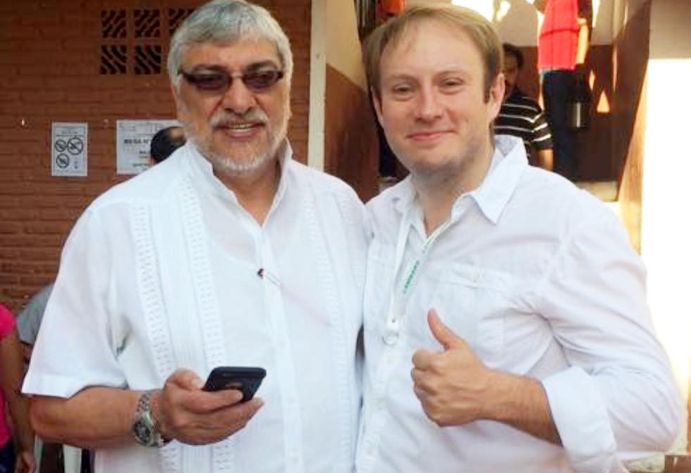 El senador Fernando Lugo y el concejal lambareño Luis Paciello.