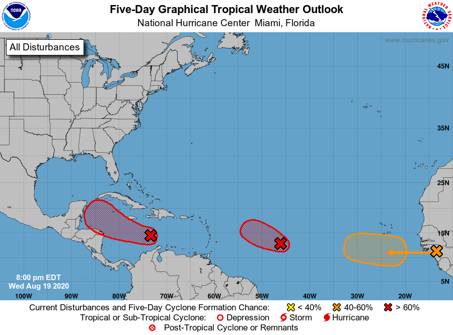 New Tropical Depression Forms In Central Atlantic Forecasters Watching Two Other Tropical Waves Too Al Com