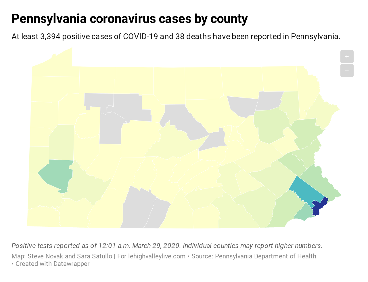 Monroe County Is A Coronavirus Hot Zone Pa S Covid 19 Cases Climb By 634 Cases With 4 New Deaths 3 29 20 Lehighvalleylive Com