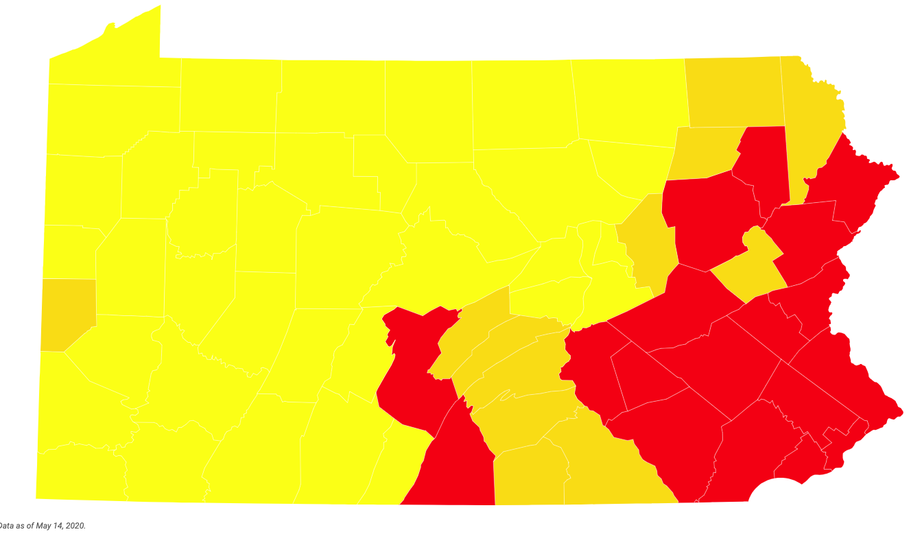 Which Pa Counties Could Move Into Green Reopening Phase And Which Could Go To Yellow Next Analysis Pennlive Com