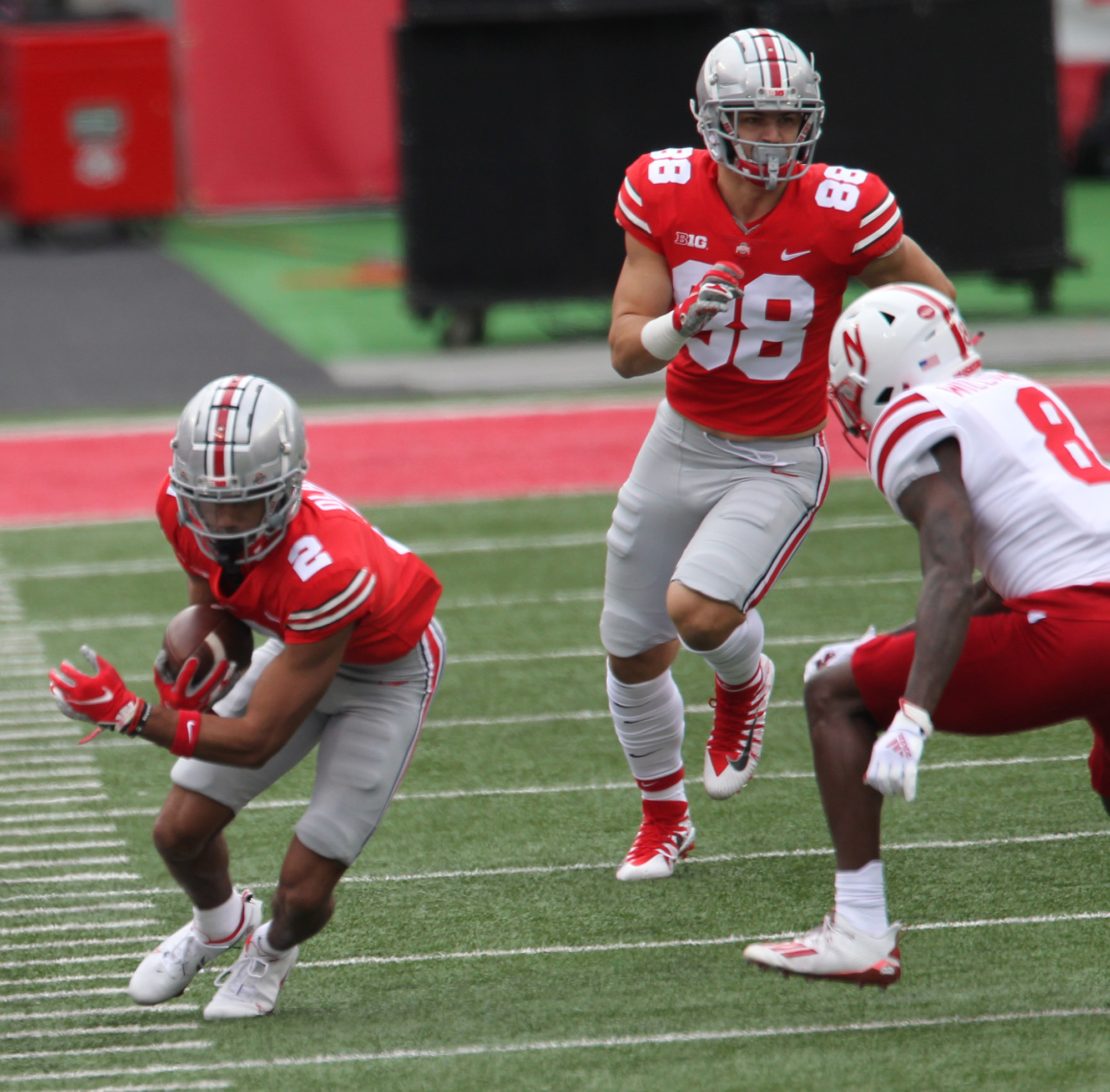 Ohio State Football S Chris Olave Knocked Out Of Nebraska Game But Ryan Day Held No Ill Will For Huskers Targeting Penalties Cleveland Com