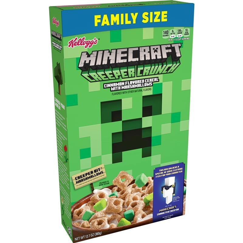 Minecraft And Kellogg S Create Creeper Crunch Cereal With Green Square Marshmallows Pennlive Com