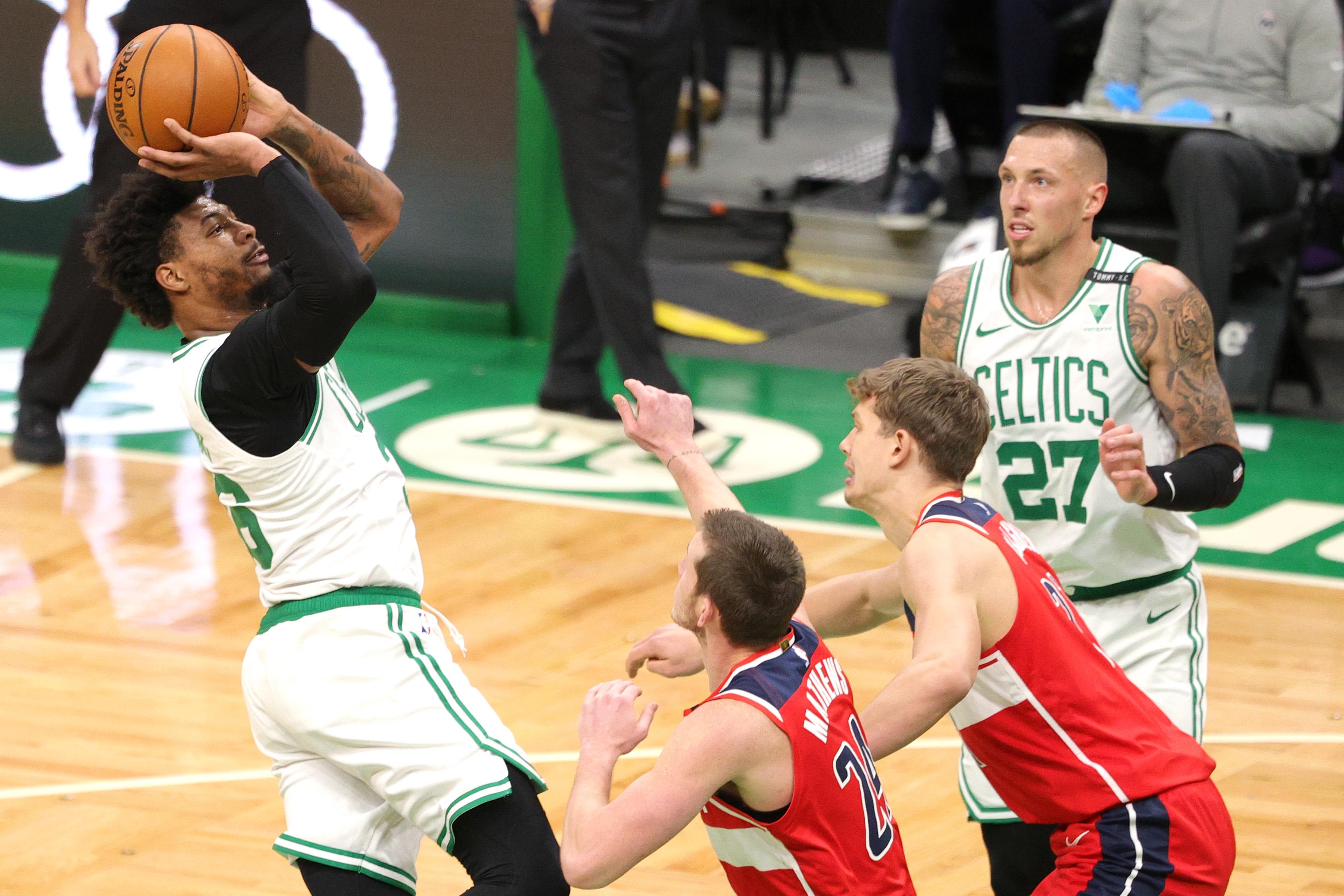 Boston Celtics survive shaky fourth quarter, thin lineup, beat Washington  Wizards, 116-107 - masslive.com