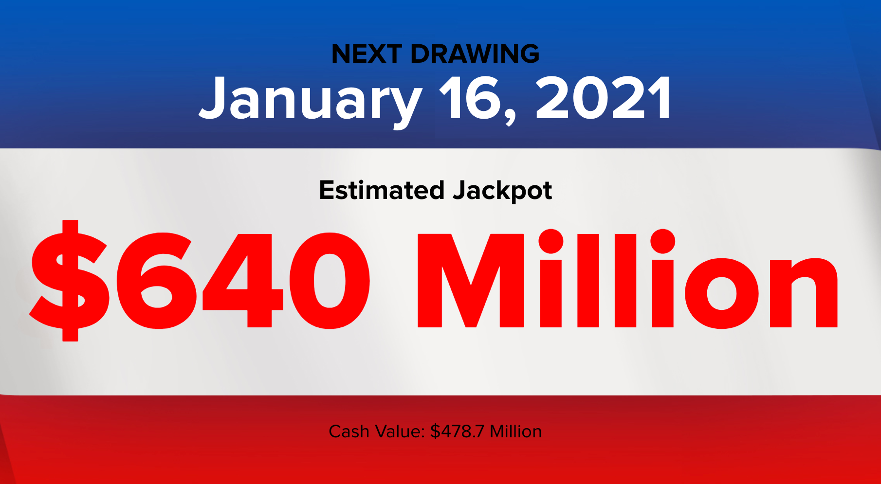 Powerball lottery: Did you win Saturday's $640M Powerball drawing? Winning  numbers, live results (1/16/2021) - nj.com