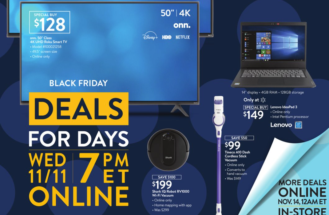 Second Of Walmart S 3 Black Friday Events Starts On Veterans Day 11 11 20 Silive Com