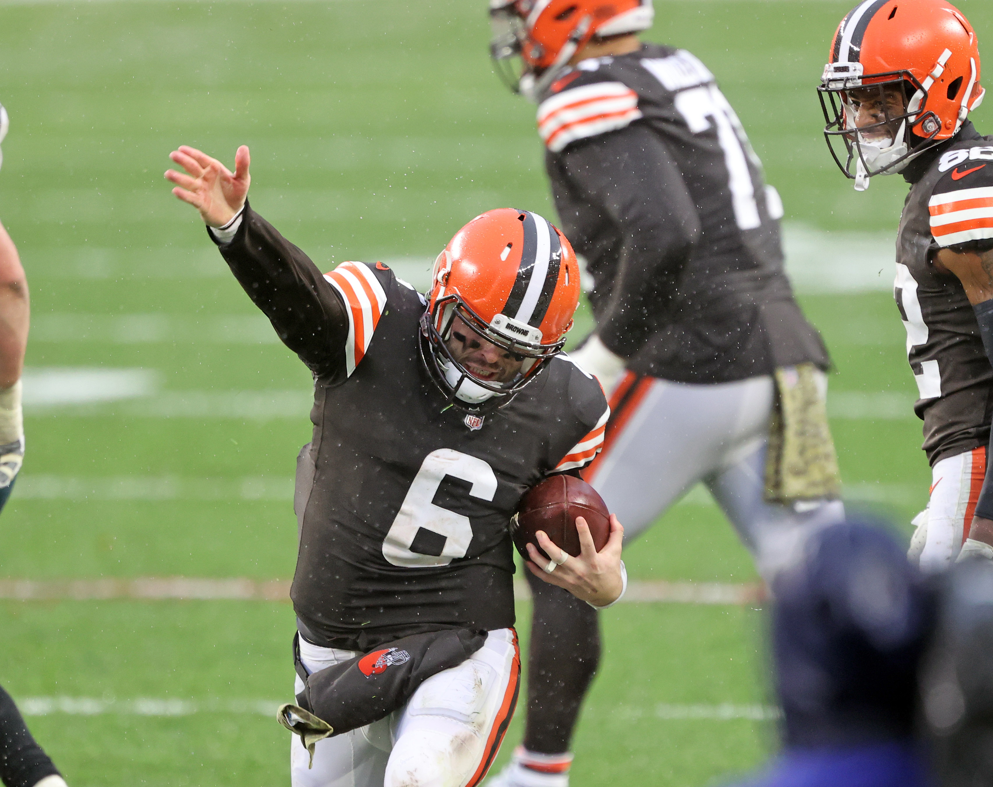 Baker Mayfield wants end zone throws back, but no picks in his last 3  games; Myles Garrett tied for sack lead: Browns Insider - cleveland.com