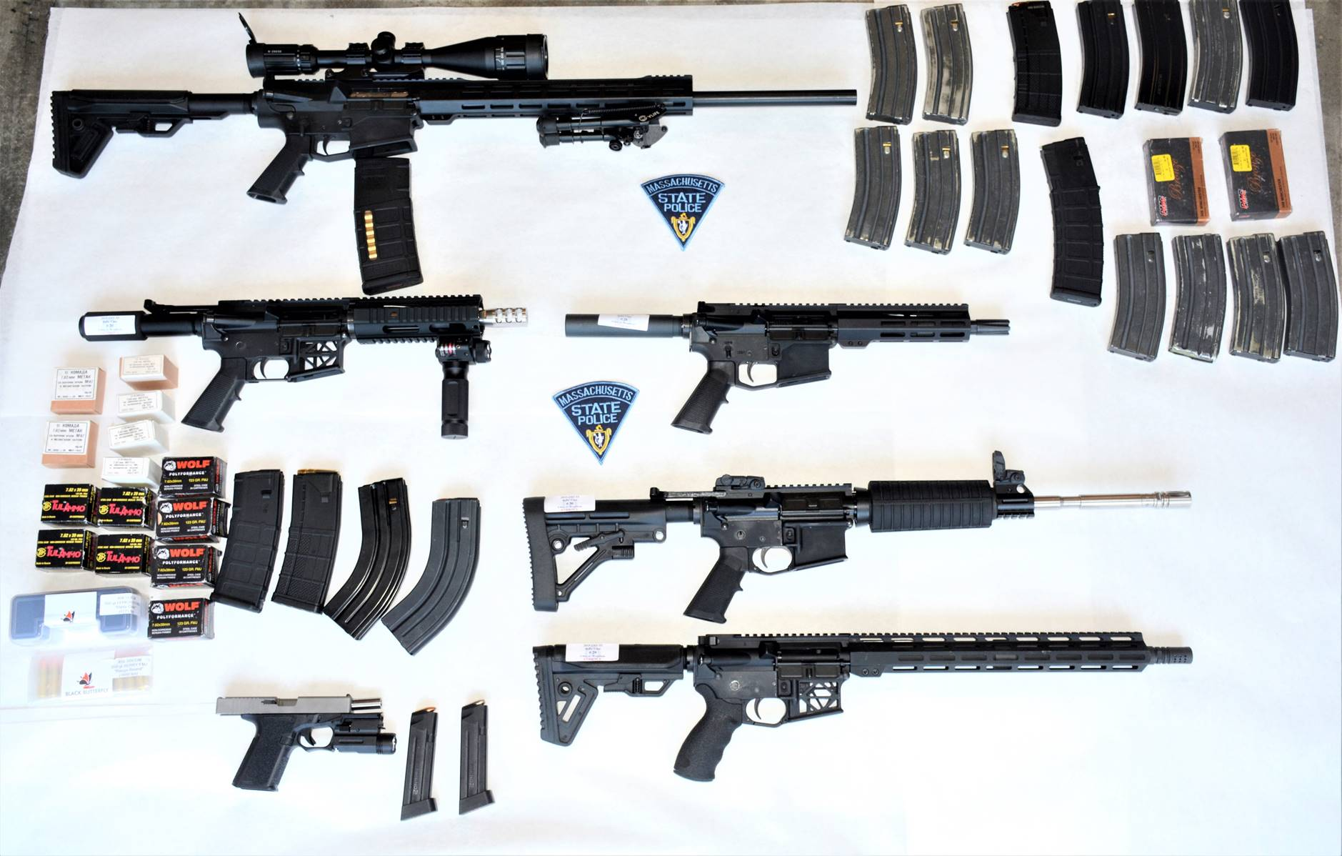 Investigation Into Chinese Shipments Leads To Discovery Of Ghost Guns In Massachusetts Ar 15 Style Rifle Silencers Among Items Being Seized Masslive Com