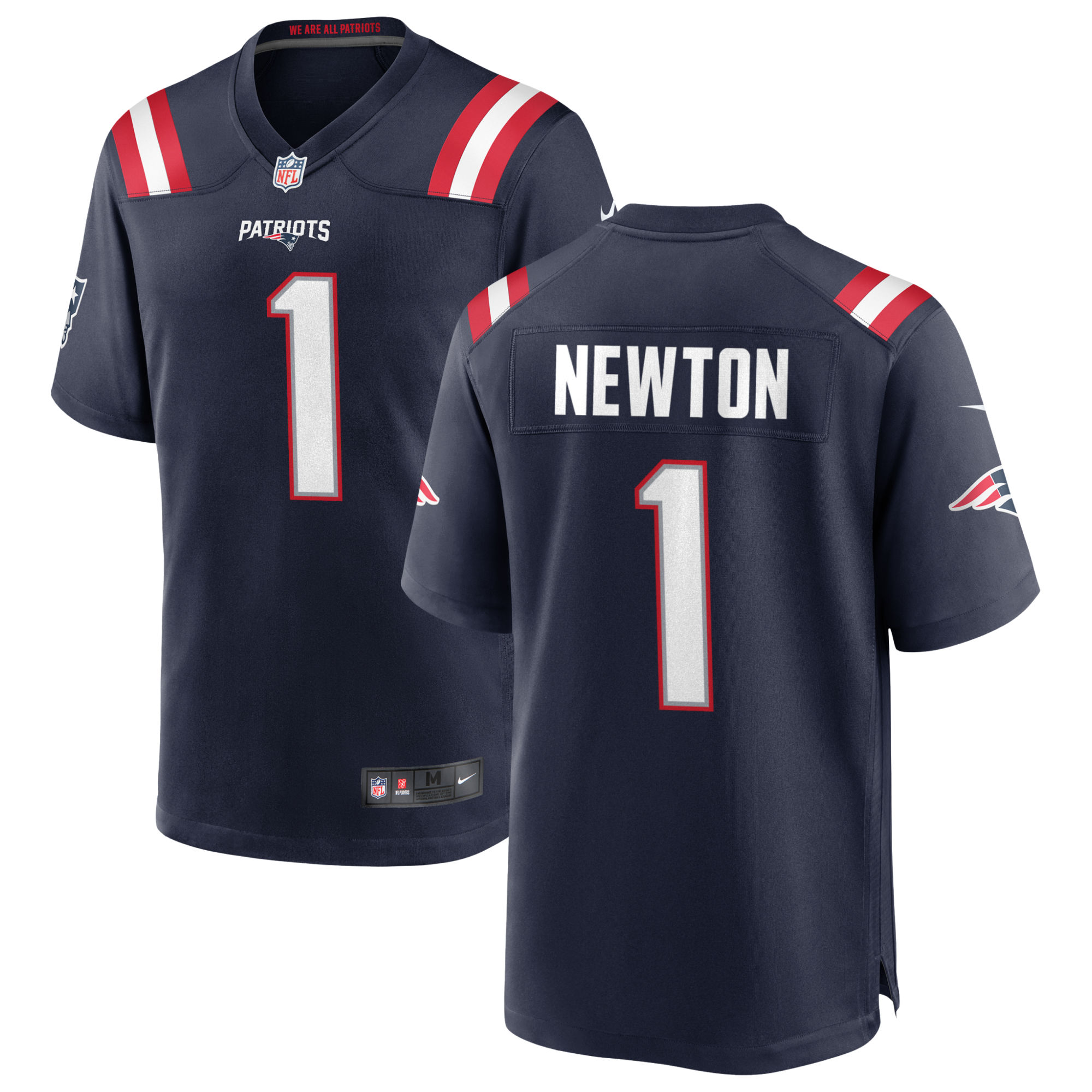 Cam Newton will wear jersey No. 1 for New England Patriots ...