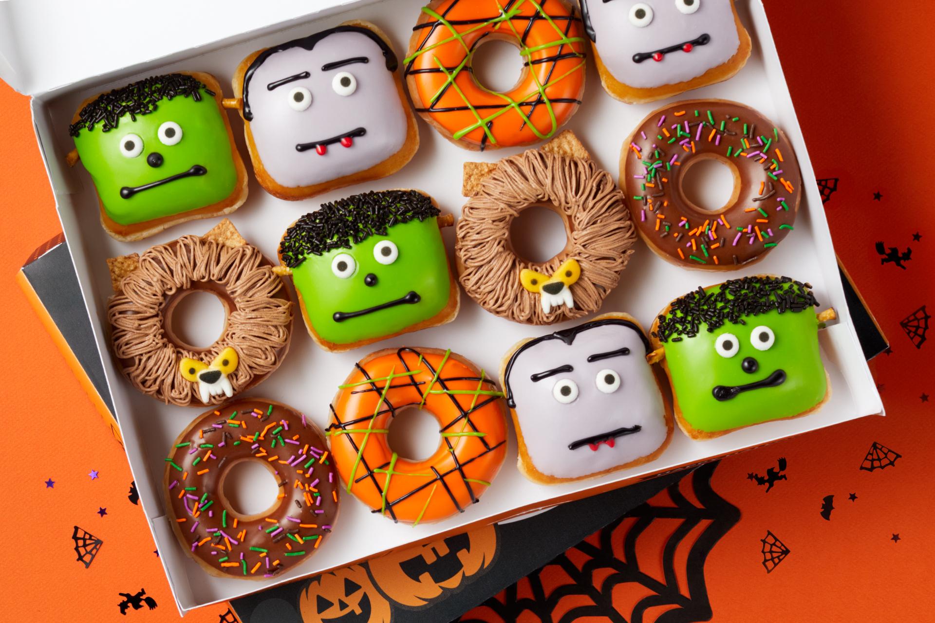 Krispy Kreme Halloween Doughnuts 2020 Flavors Krispy Kreme offering free doughnuts to anyone who visits in