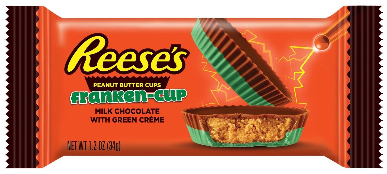 Halloween 2020 Peanut Butter Reese's Peanut Butter 'Franken Cups' and Vampire Kisses among