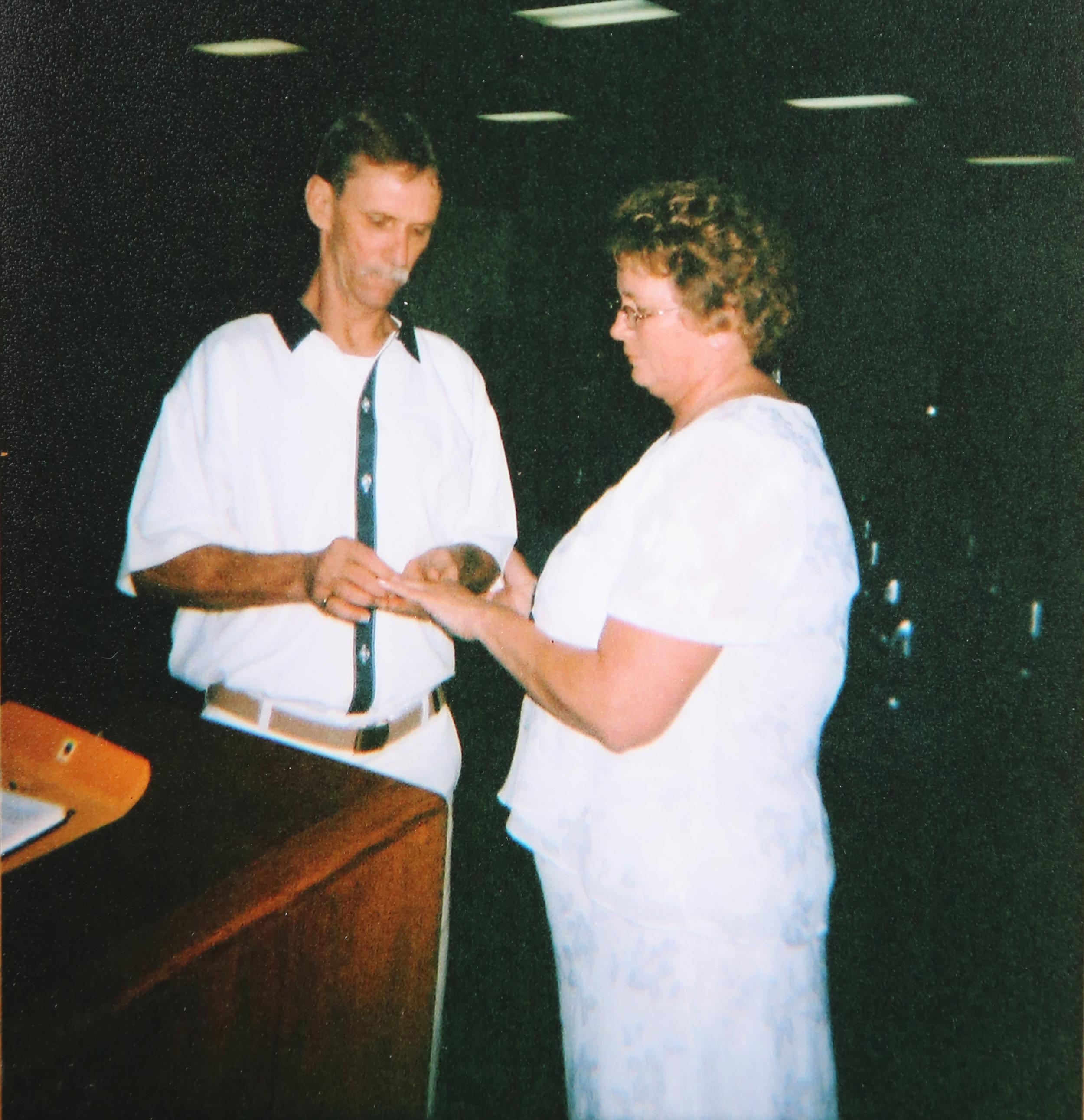Dennis and Brenda Perry married in a small ceremony at the prison.