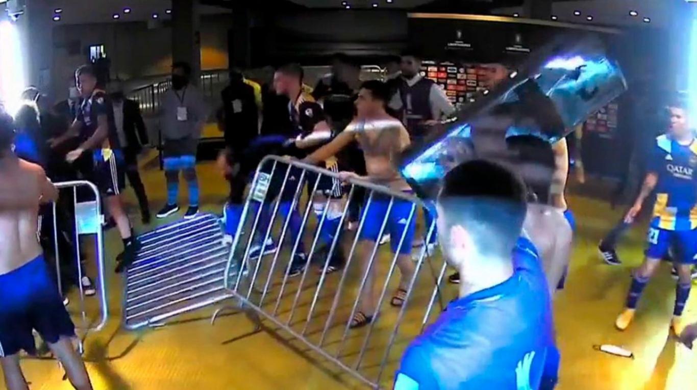 El video completo de los incidentes de Mineiro-Boca: así empezó la pelea que terminó en bochorno