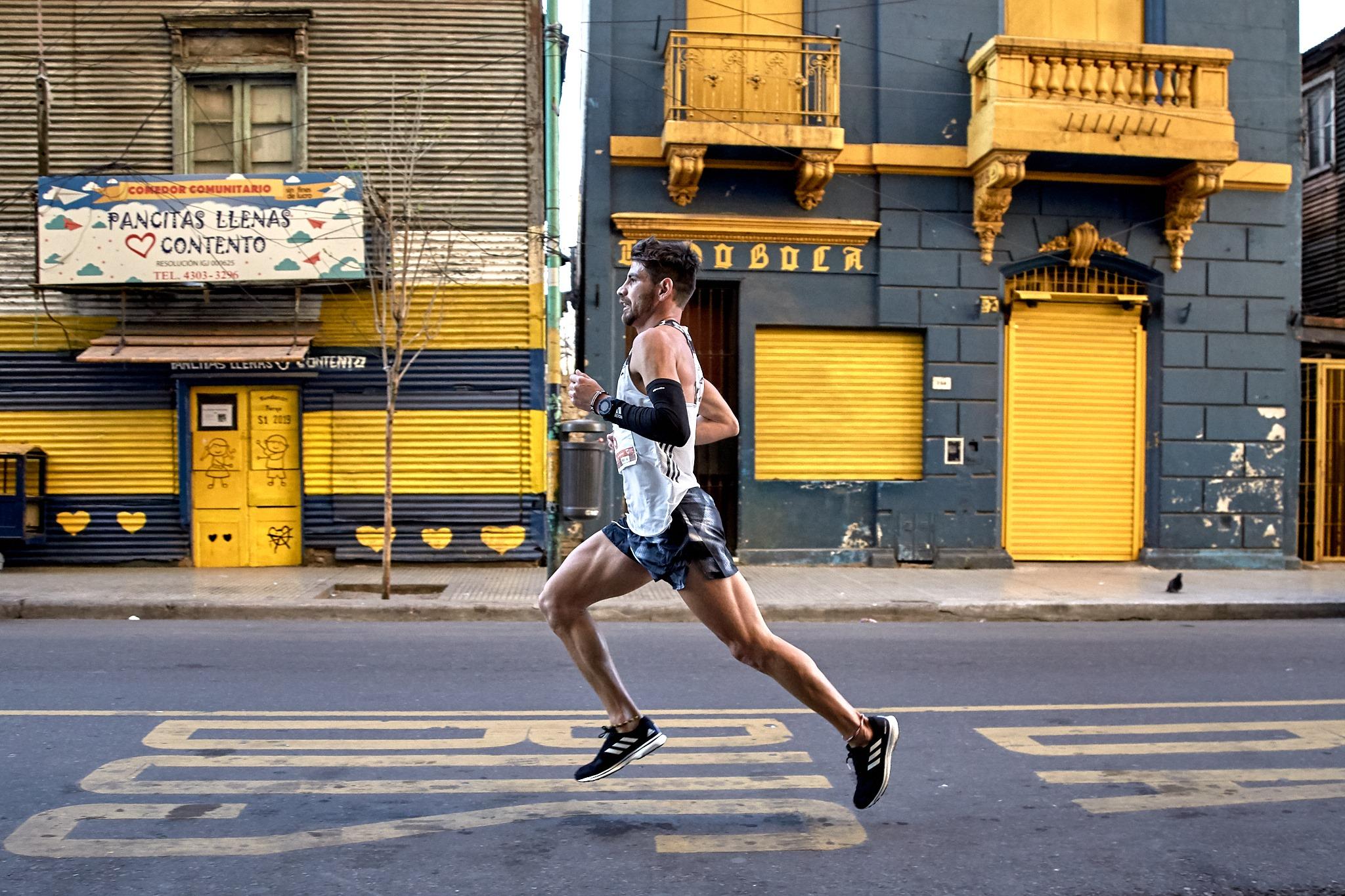 Peregrinó hasta Luján y participa de los 42k de Buenos Aires