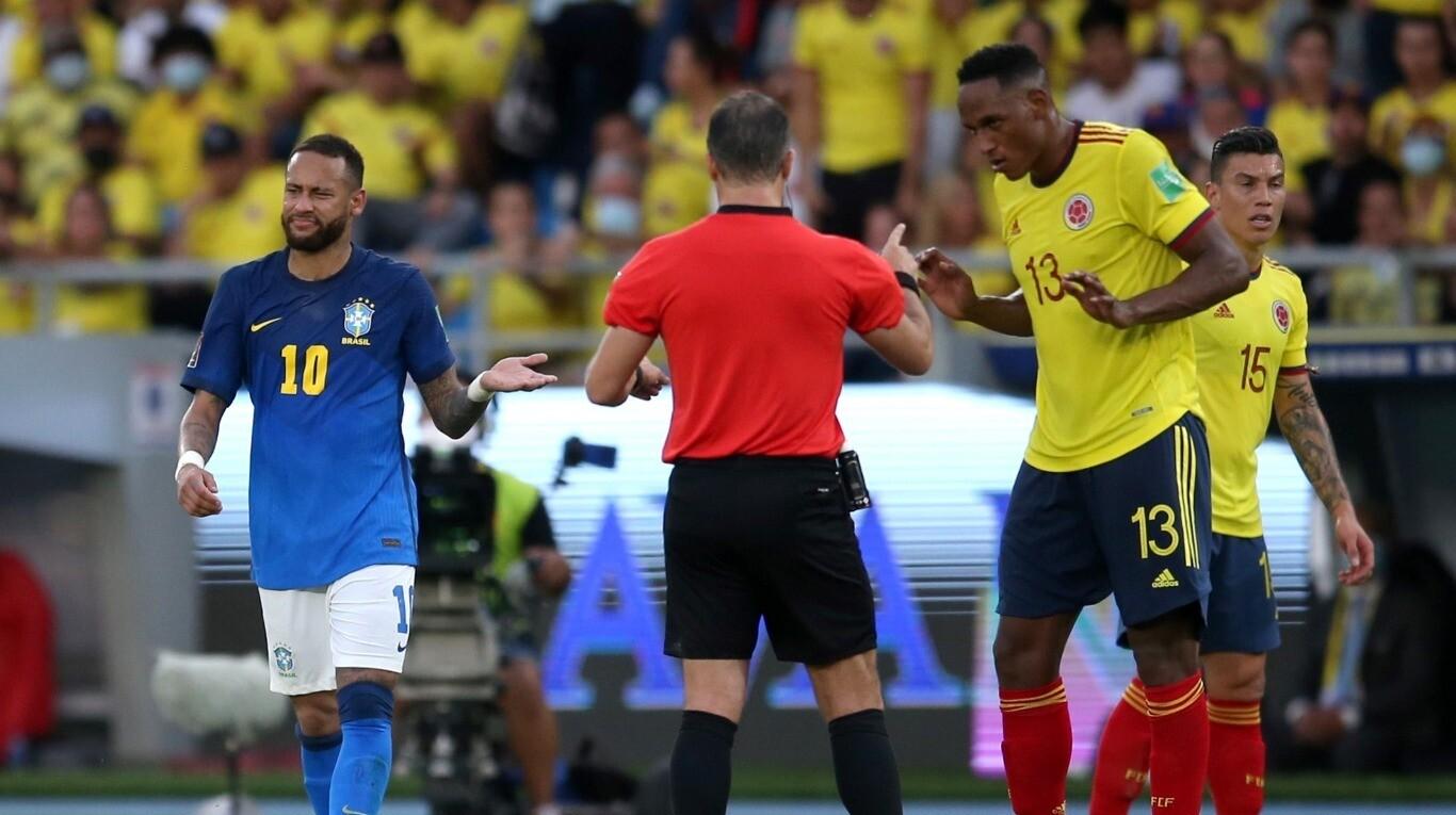 El líder Brasil empató con Colombia y dejó escapar sus primeros puntos en las Eliminatorias