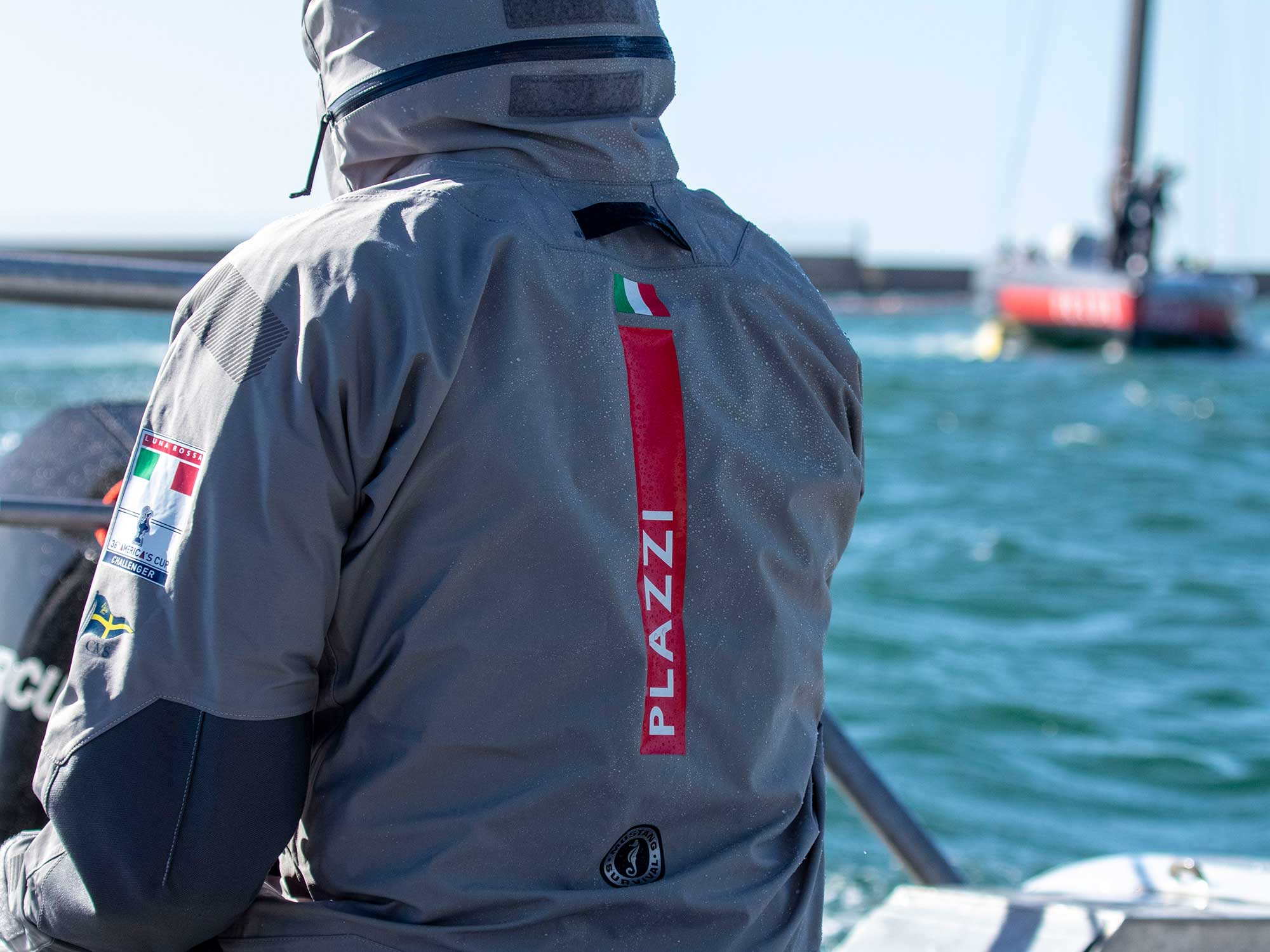 Mustang Survival EP Ocean Racing Jacket. Offshore protective gear for the Support team.