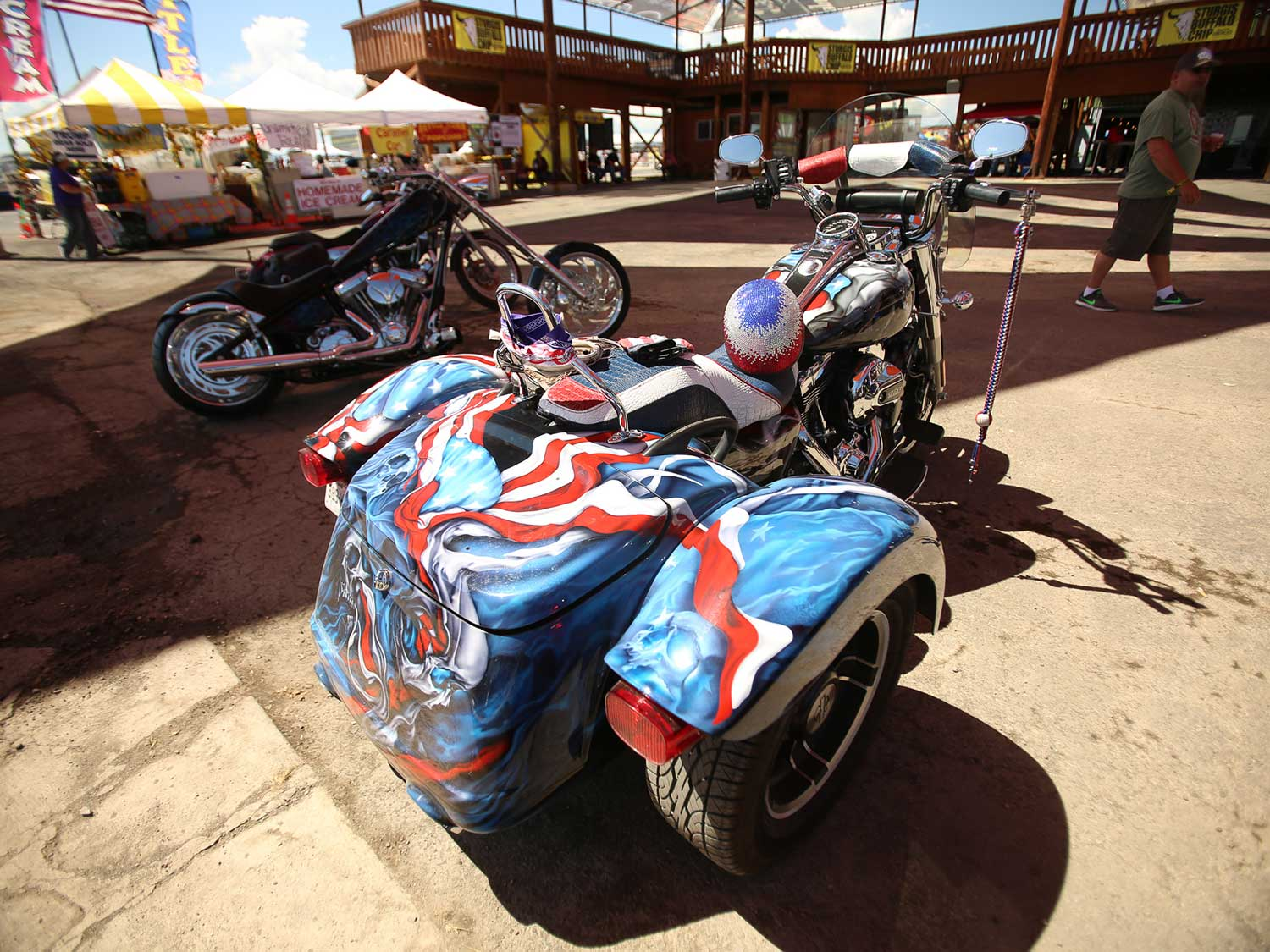Patriotism on three wheels at the Sturgis Buffalo Chip