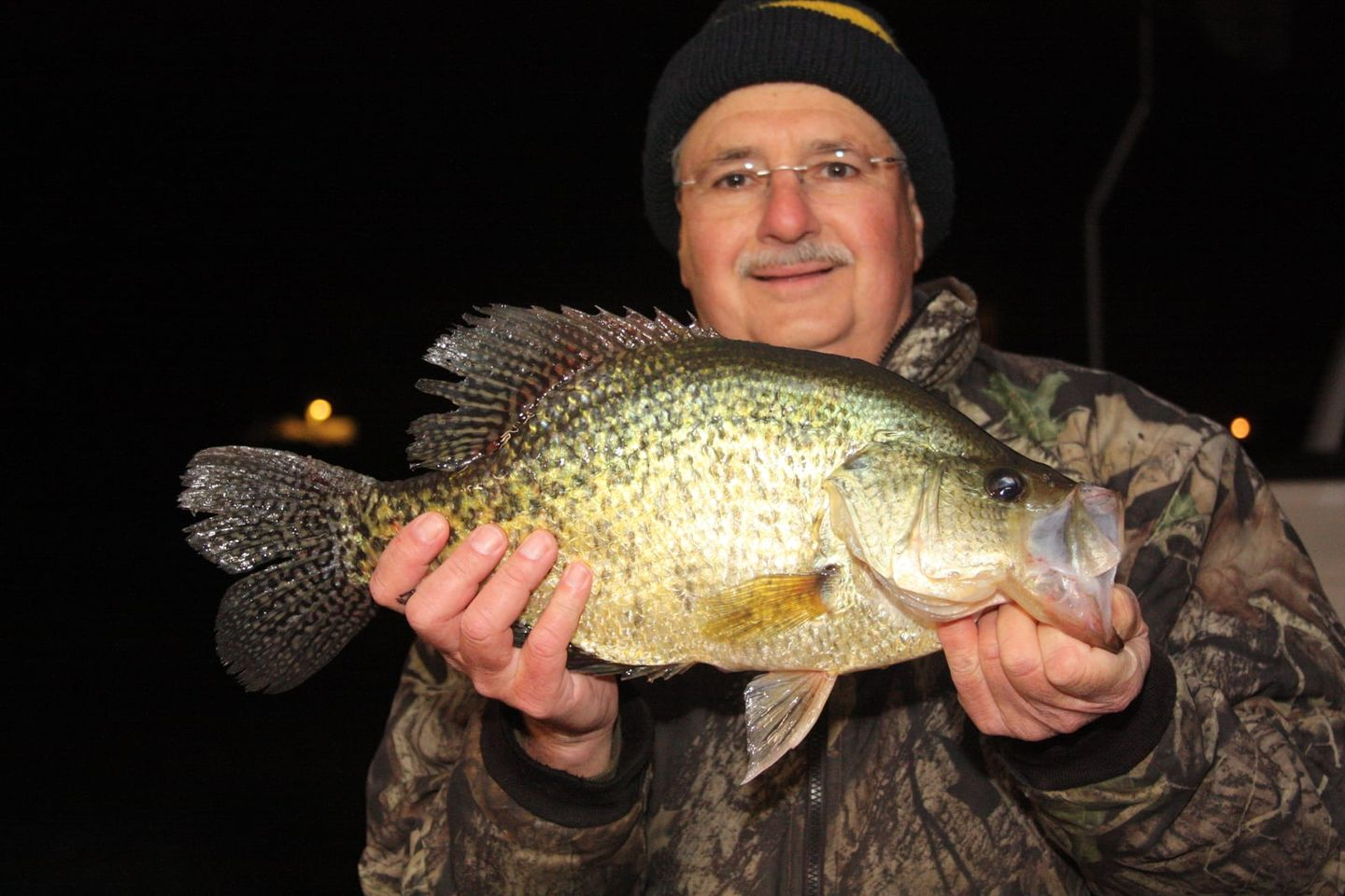 Huge crappie nearly breaks decades-old record