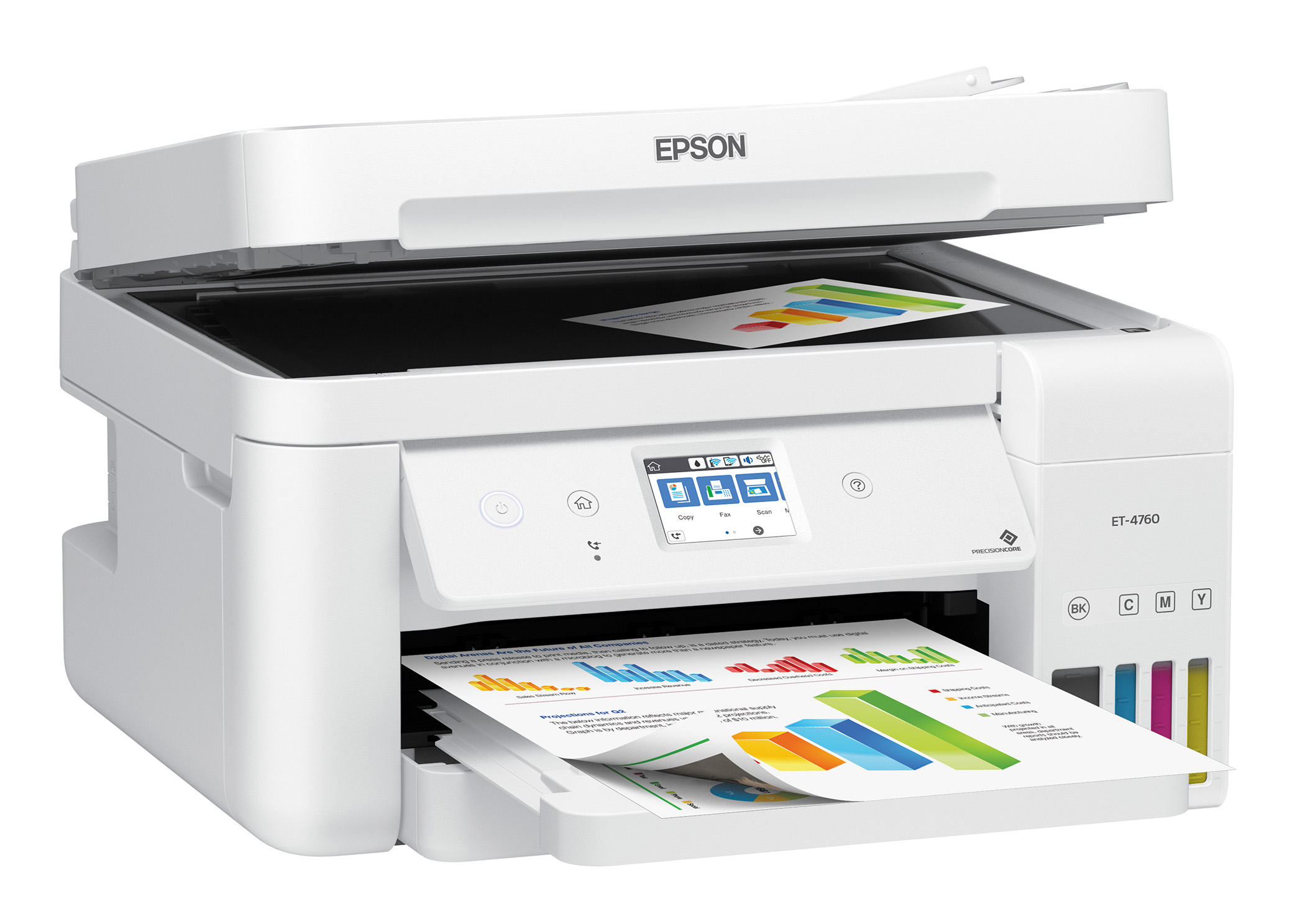 Whether you're turning your Airstream into a traveling office or heading to your vacation cabin for an extended stay, take the Epson Supertank ET-4760 printer with you.