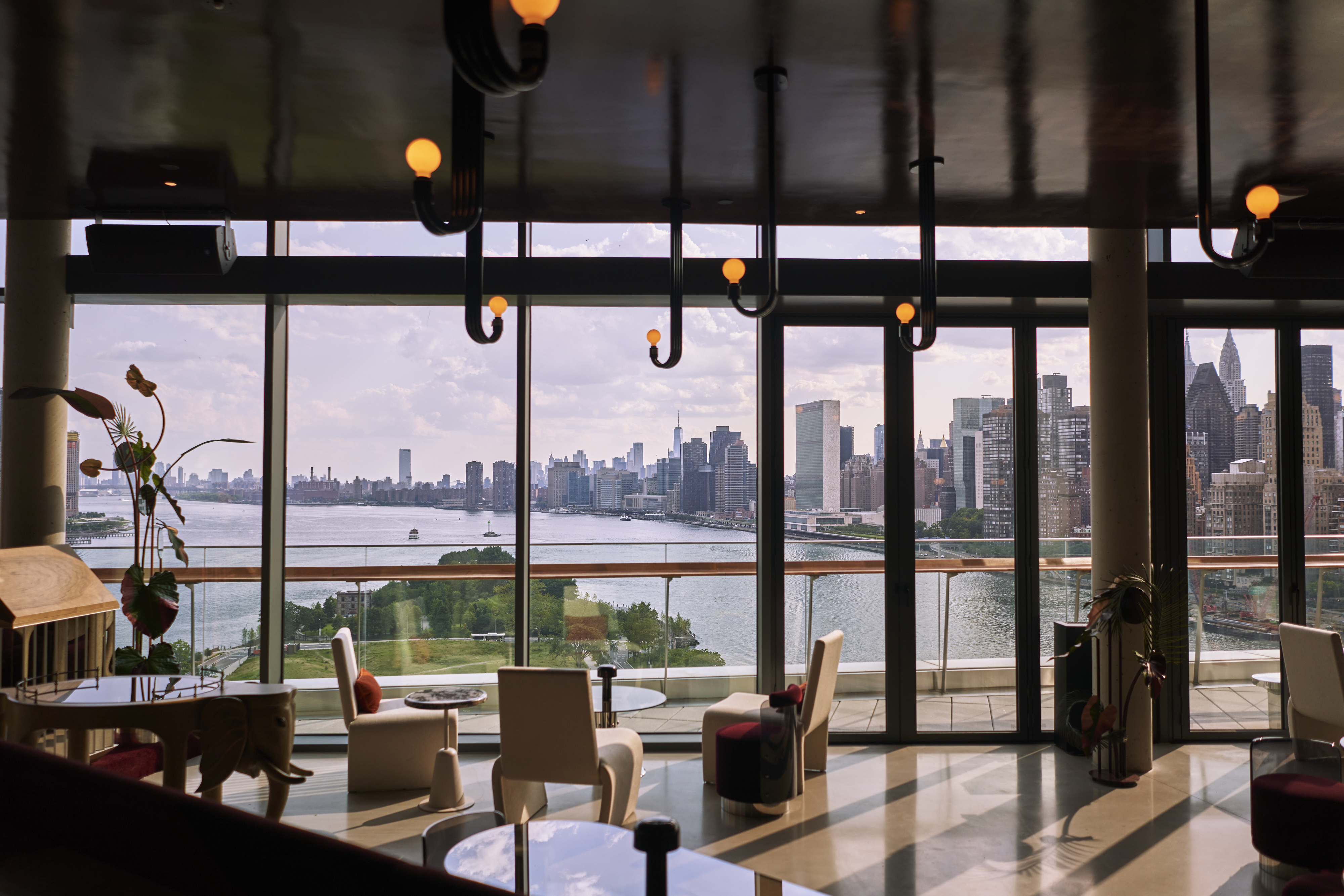 Panorama Room, a new cocktail bar on top of the island of Graduate Roosevelt.