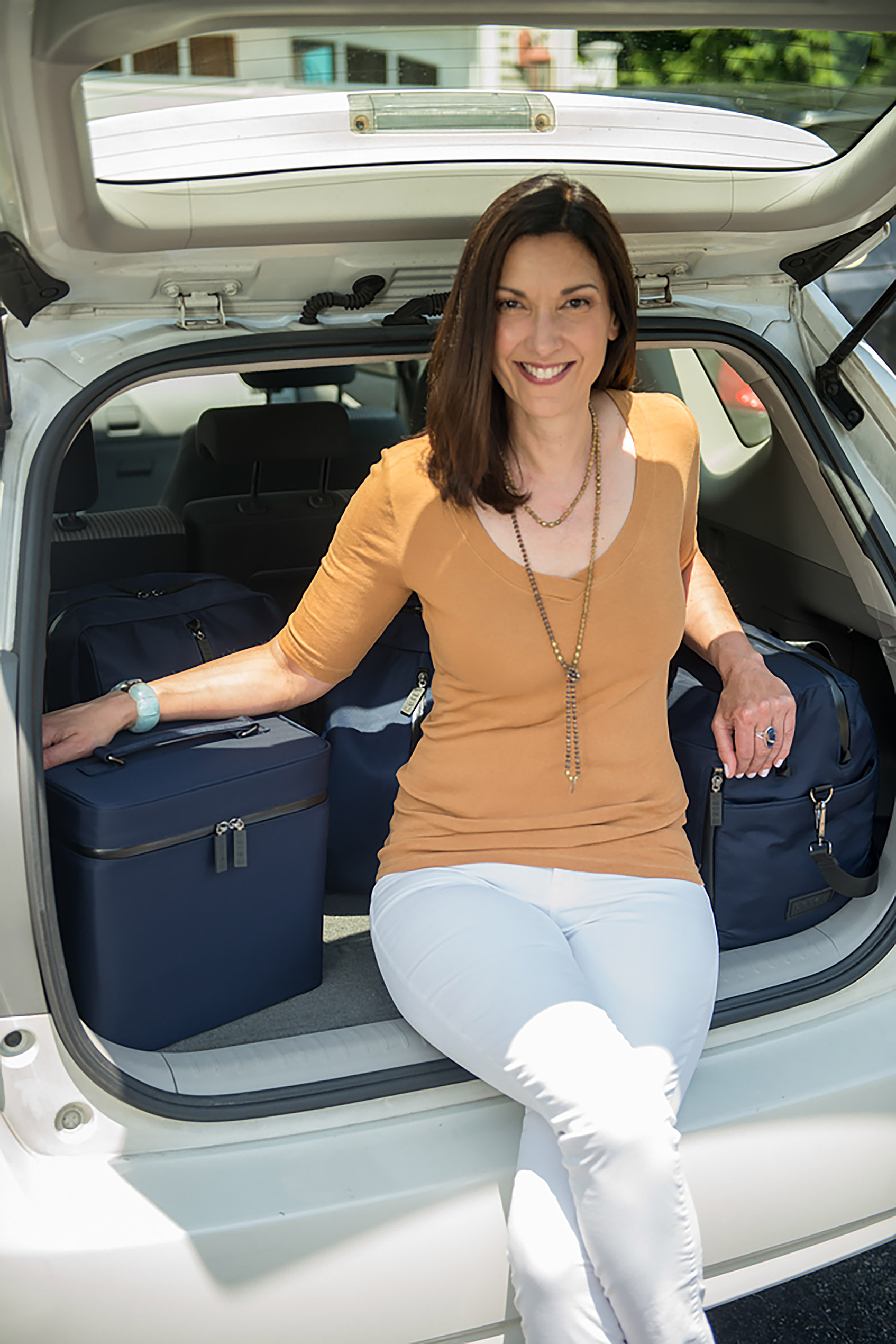 Tracey Cugno is the owner of Rhode Island-based company Leigh ShoeCase, which uses antimicrobial technology in its travel products and face masks.