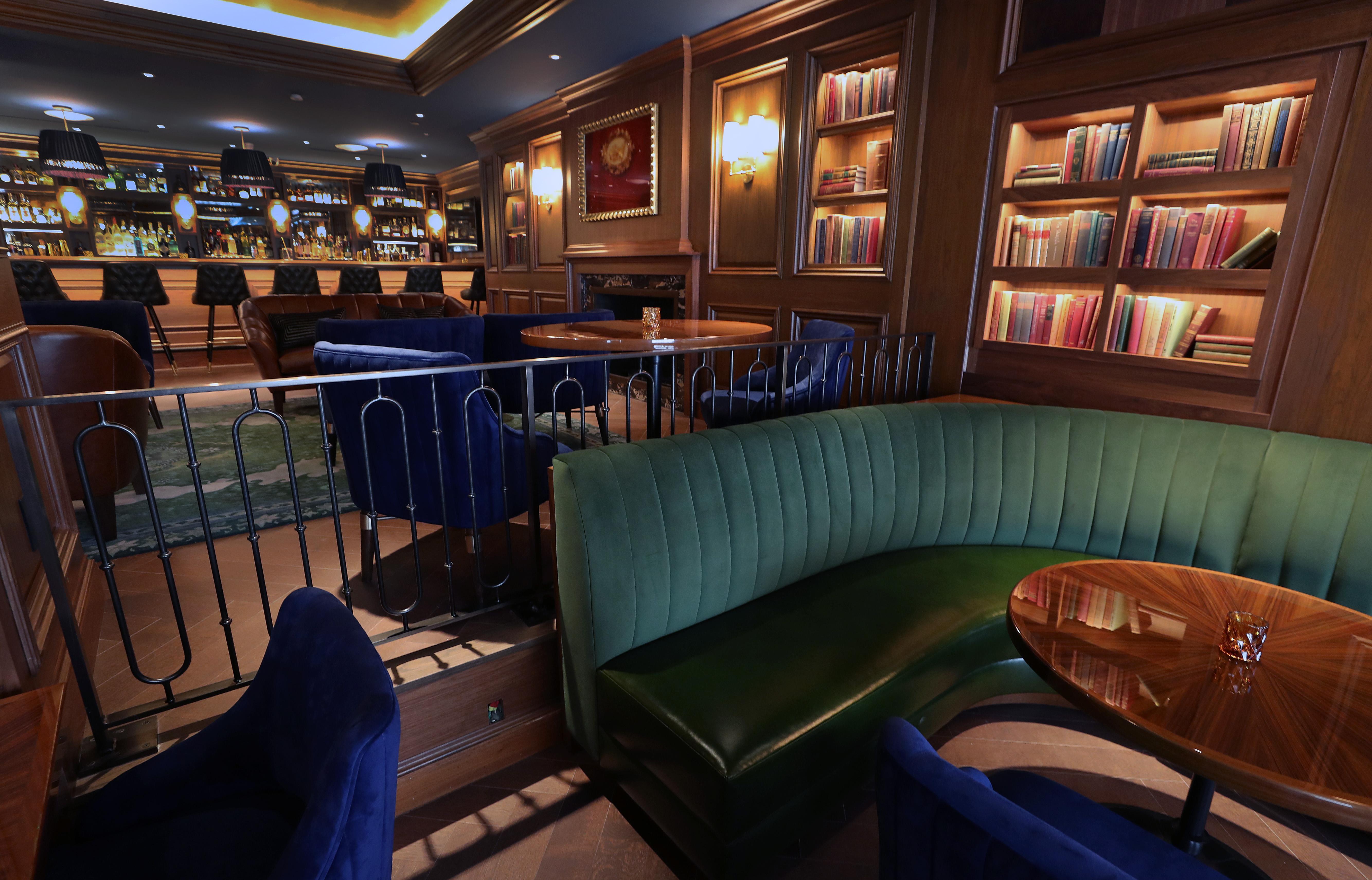 The bar at The Newbury Boston.