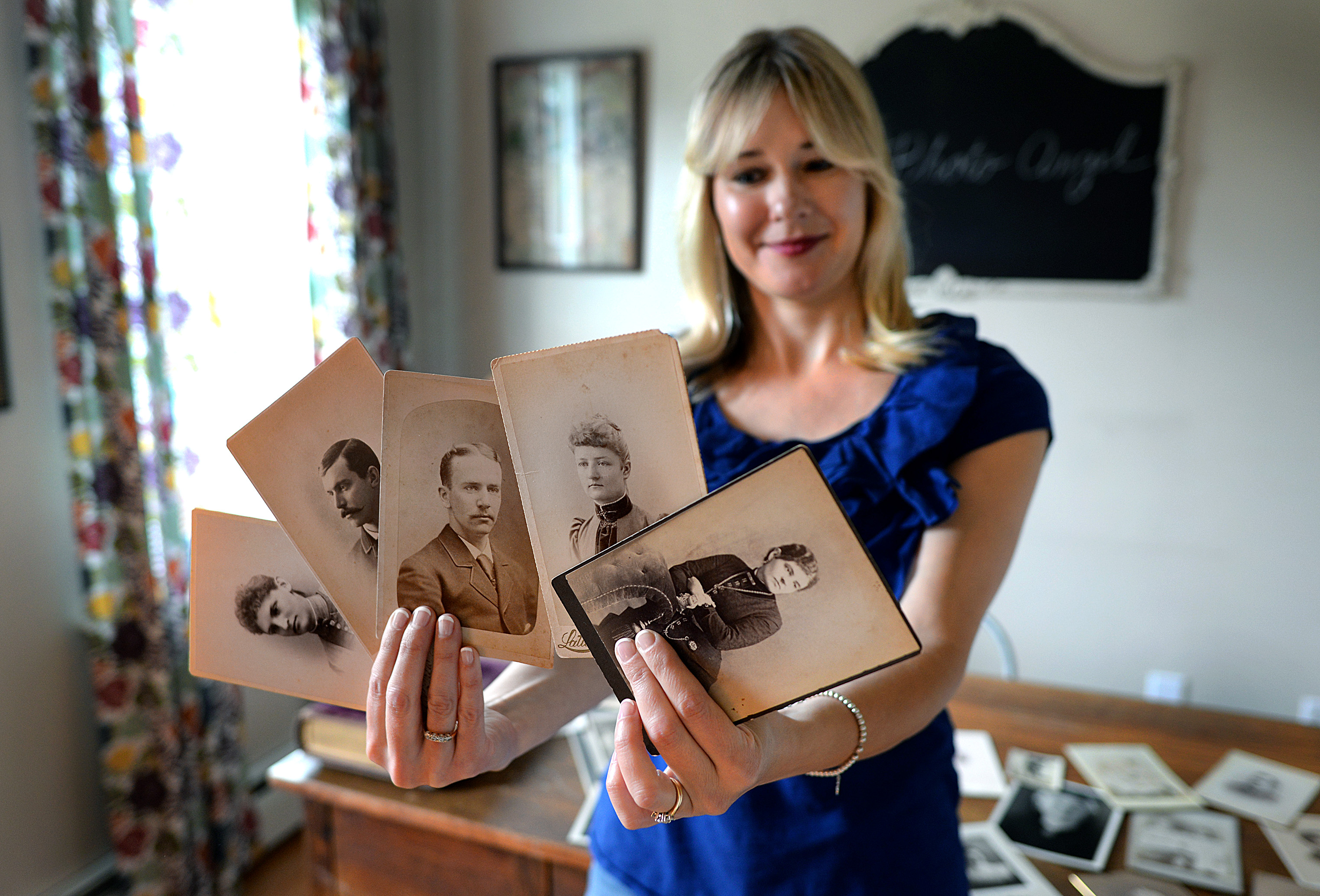 While Kate Kelley's hobby is new, her fascination with genealogy has endured forever.