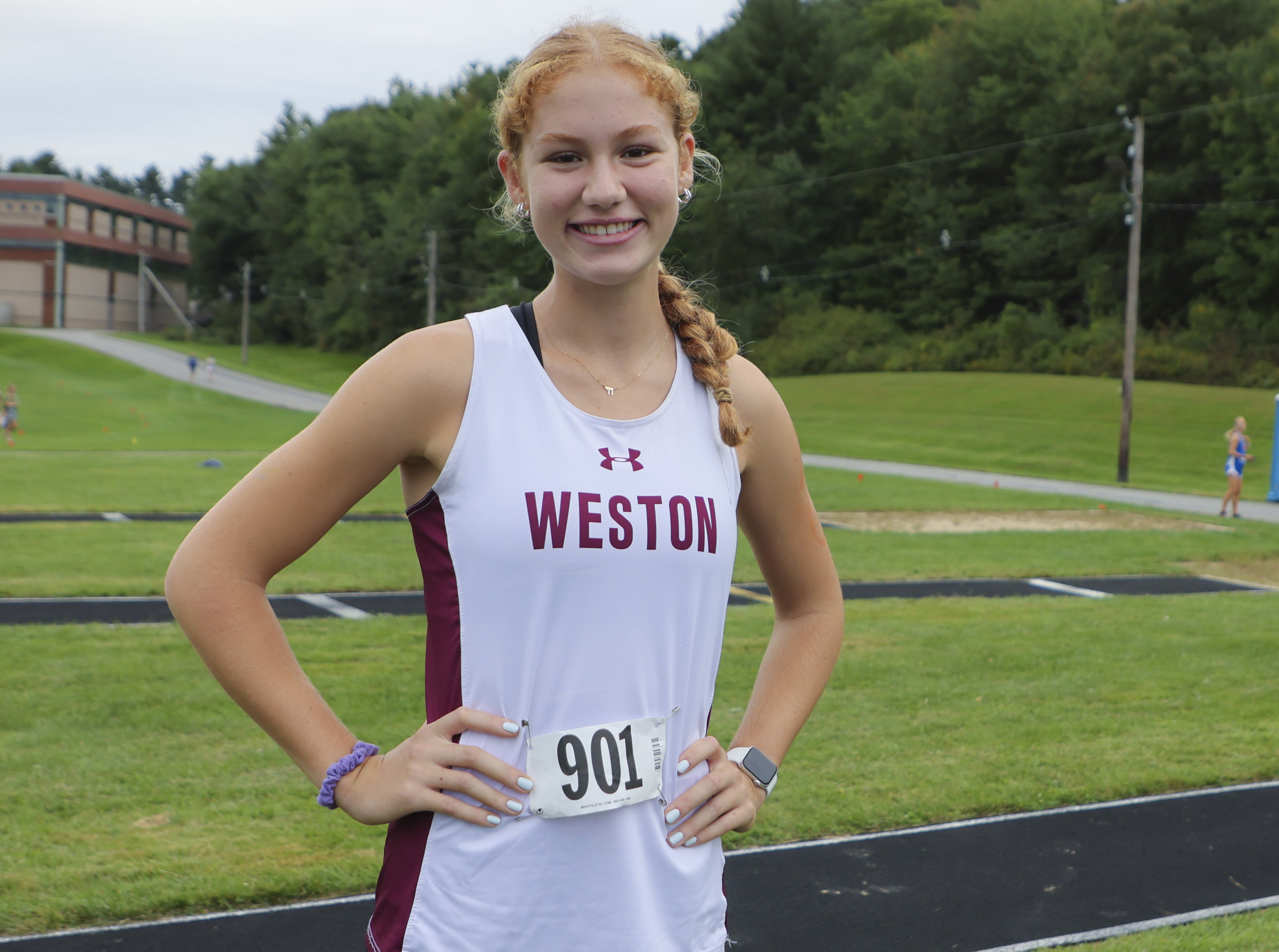 After a strong performance on the track at the All-State Meeting in the spring, Weston senior Julie Hohenberg is attracting interest from Division 1 colleges in New England.