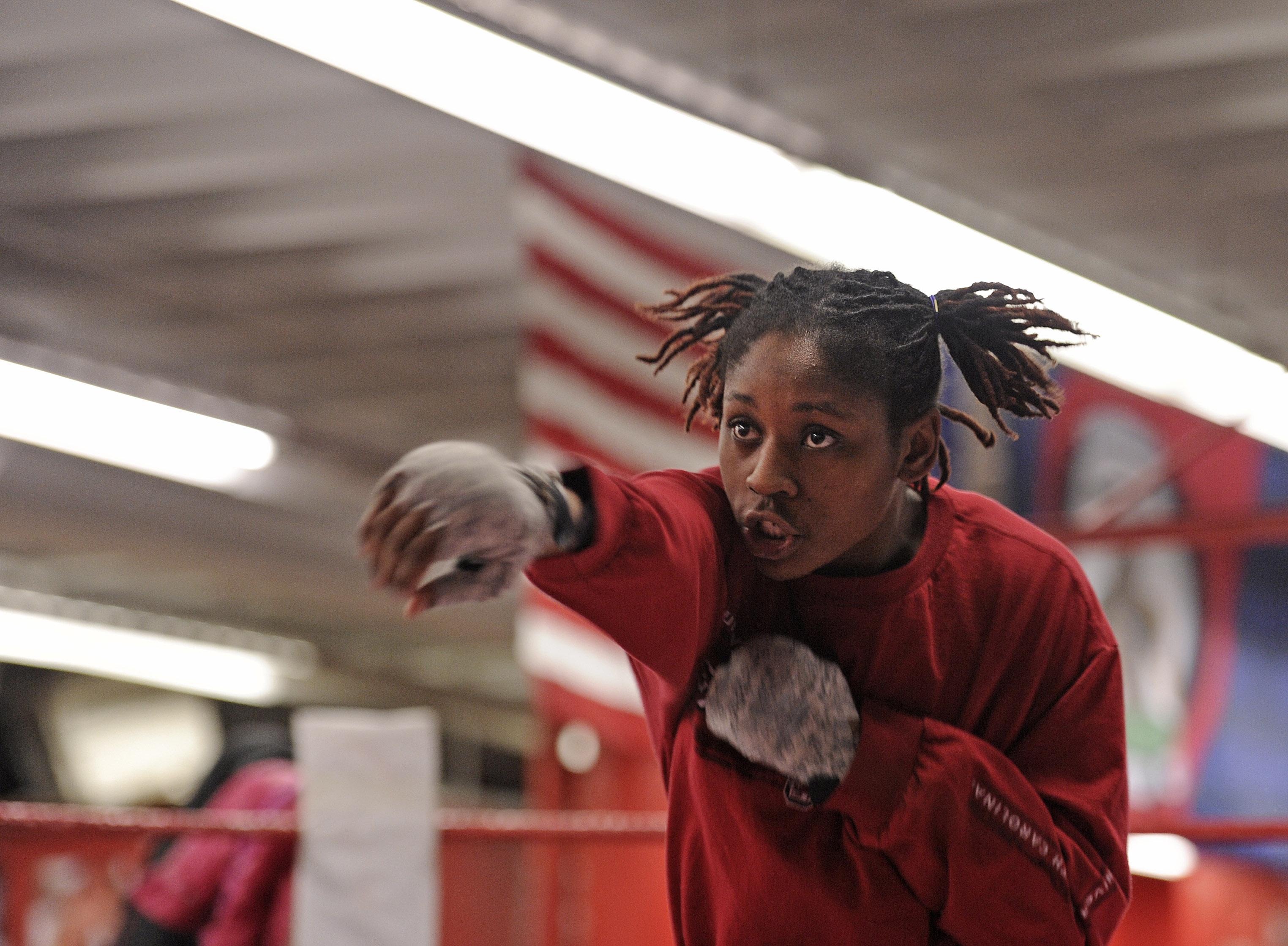 As a 19-year-old, Rashida Ellis (shown in 2014 at the Somerville Boxing Gym) already had an eye on the Olympics.