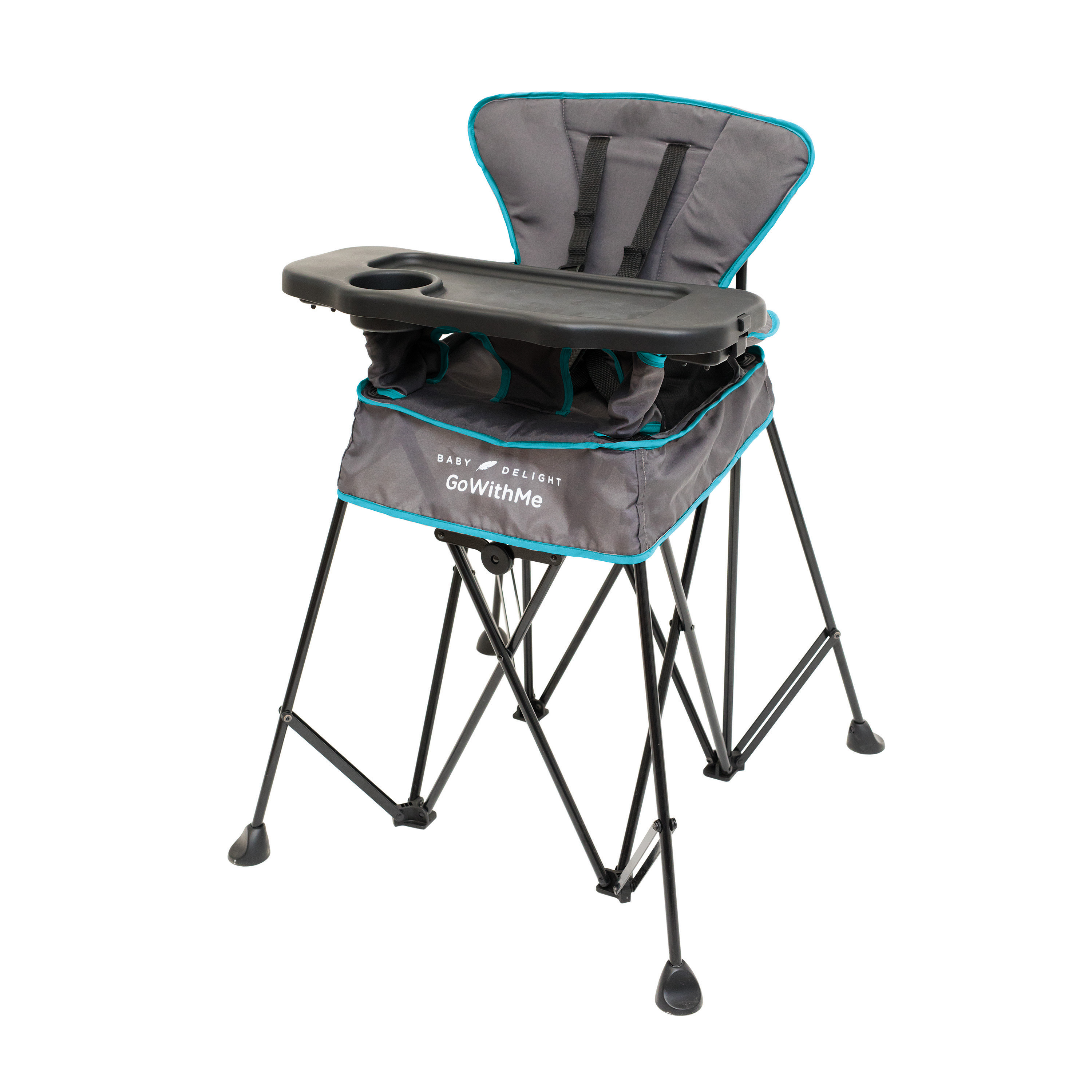 """Baby Delight, a product design company for all-things-baby, offers a """"Go With Me"""" line of portable high chairs."""