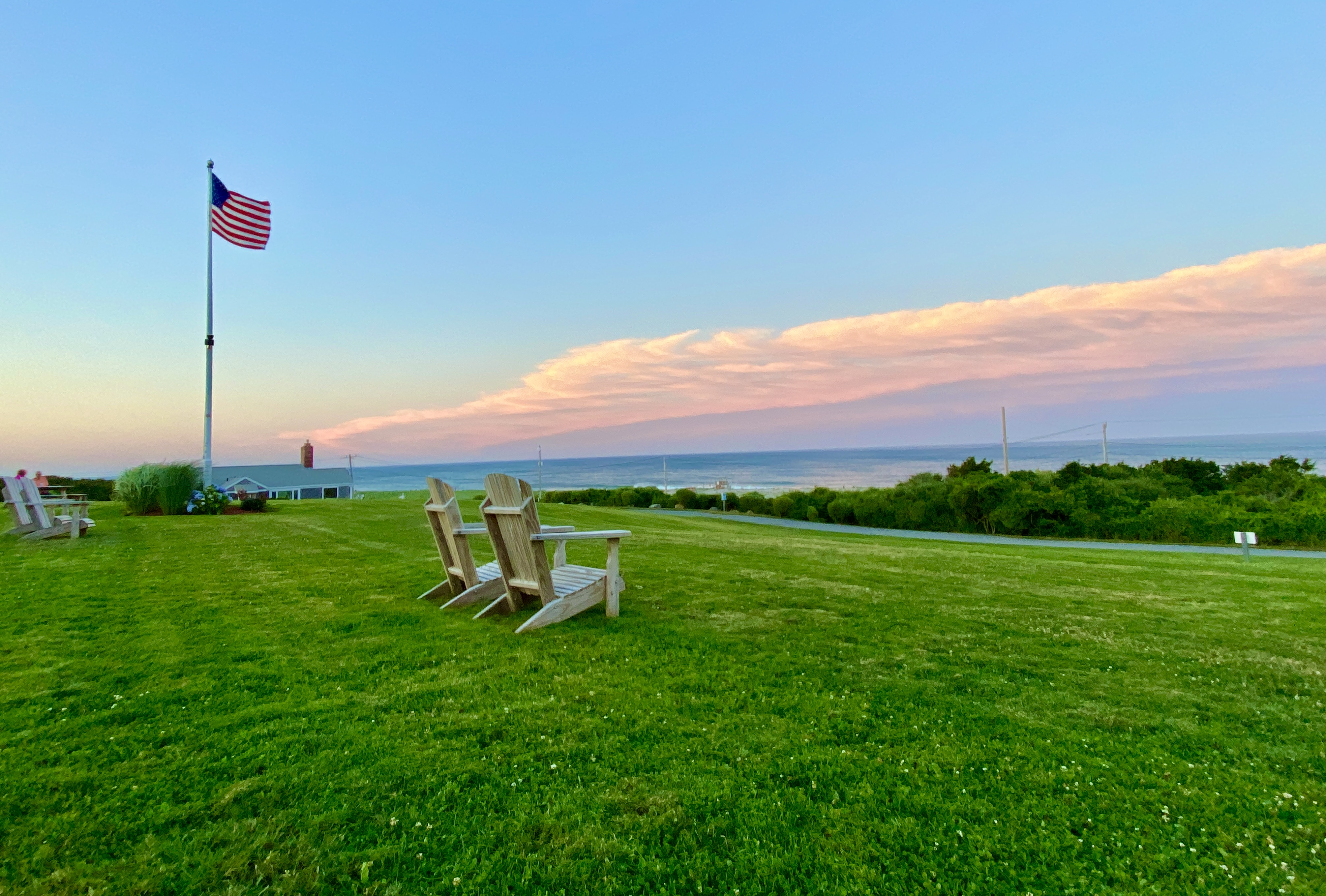 A view of Nauset Beach from the lawn of the Nauset Beach Inn in Orléans.