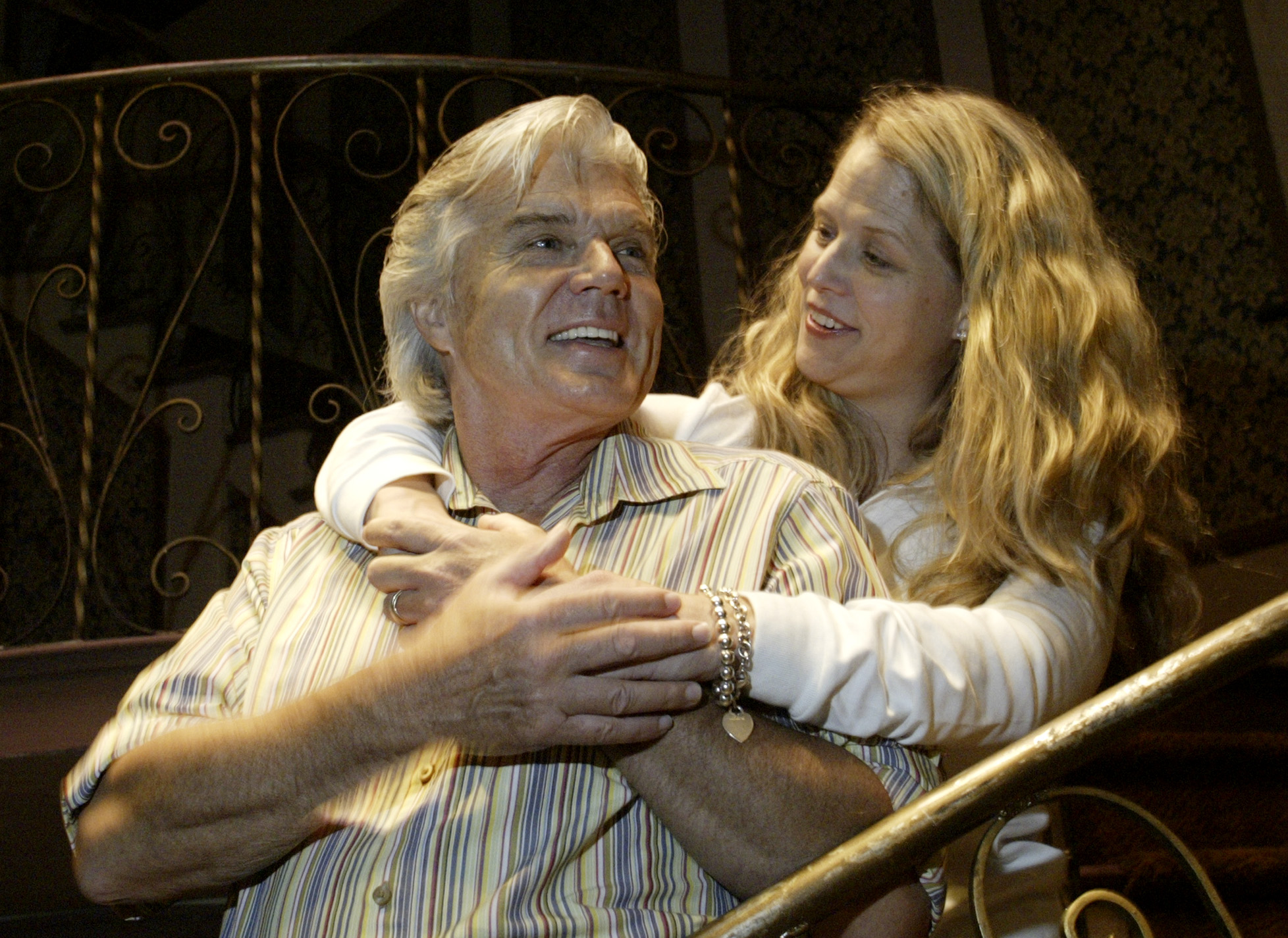"""John Davidson starred in """"The sound of music"""" as Captain von Trapp (with costar Sarah Pfisterer) at the Robinson Theater in Waltham in 2005."""
