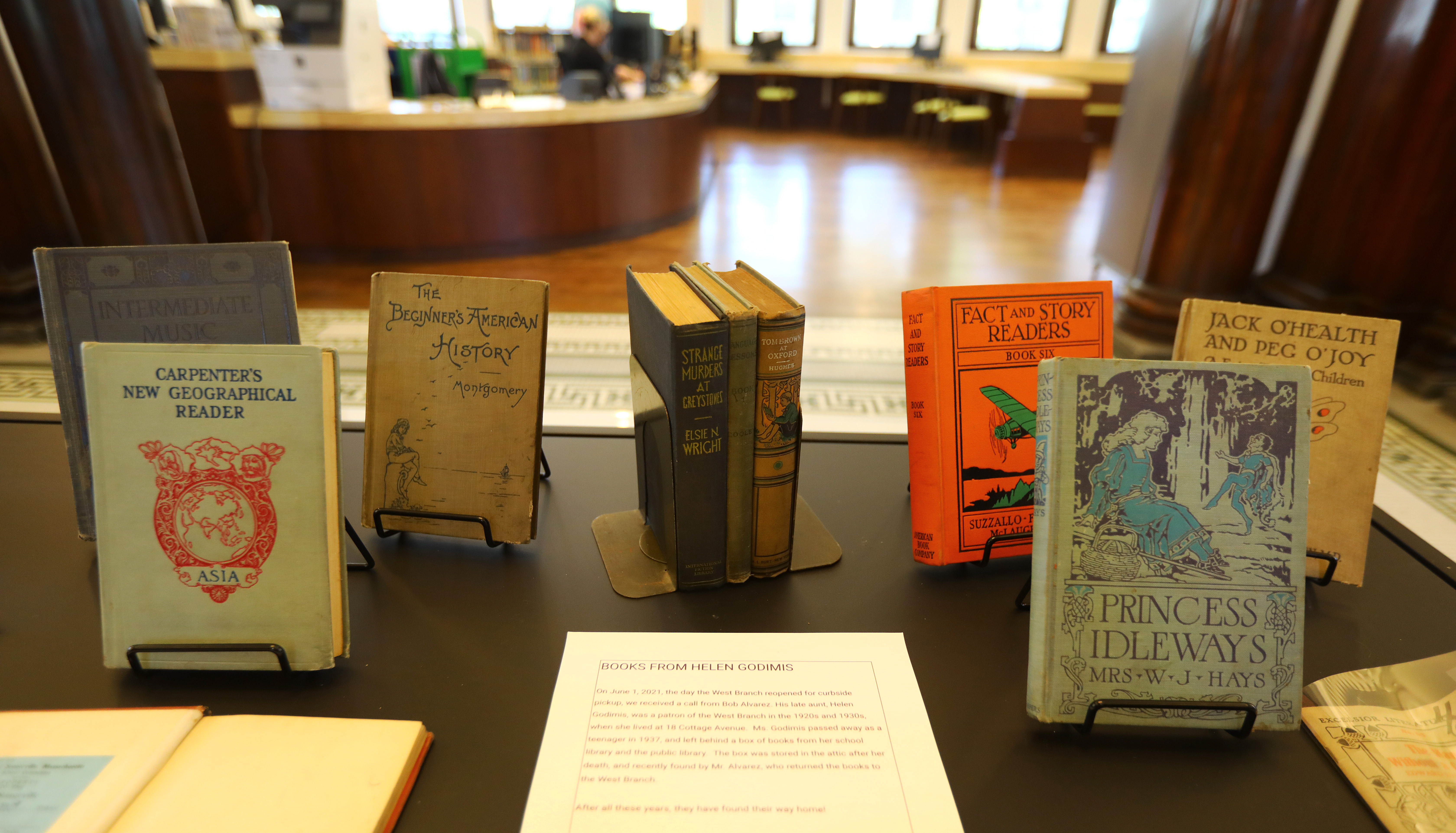 Some of the books are now on display in the West Branch of the Somerville Public Library.