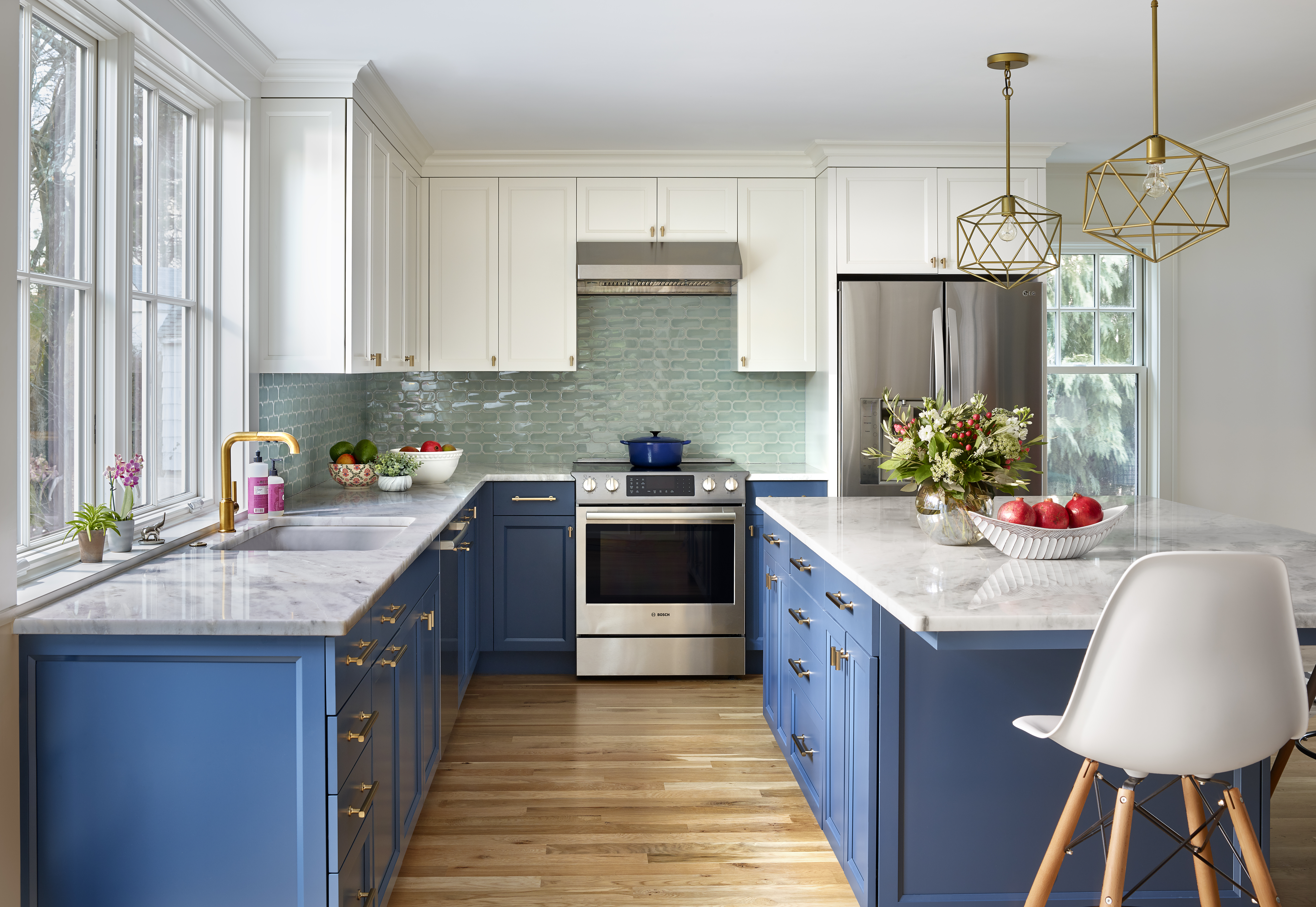 Home Design Ideas How To Make Color Work In An Open Kitchen The Boston Globe