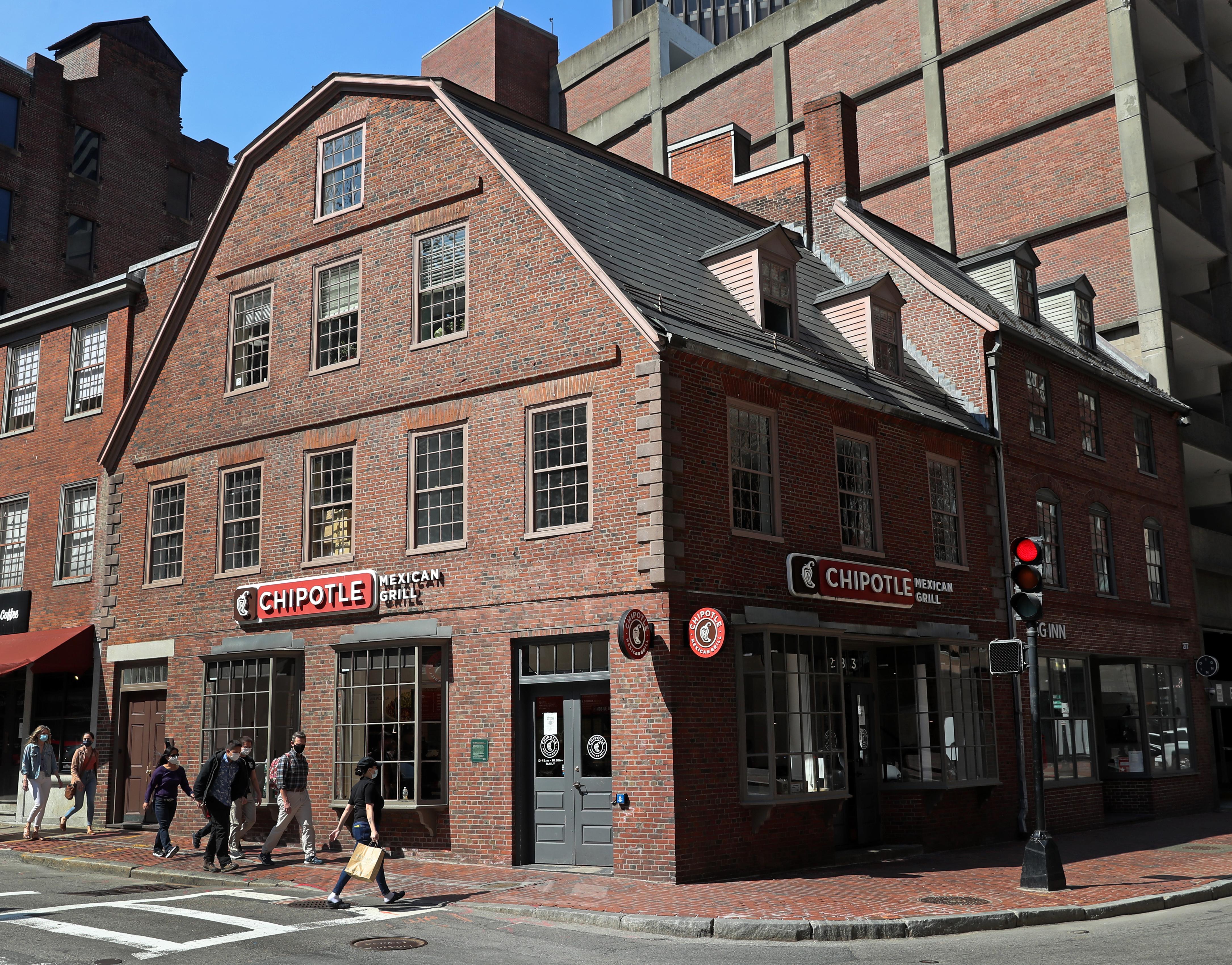 The Old Corner Bookstore at 283 Washington St., Boston.