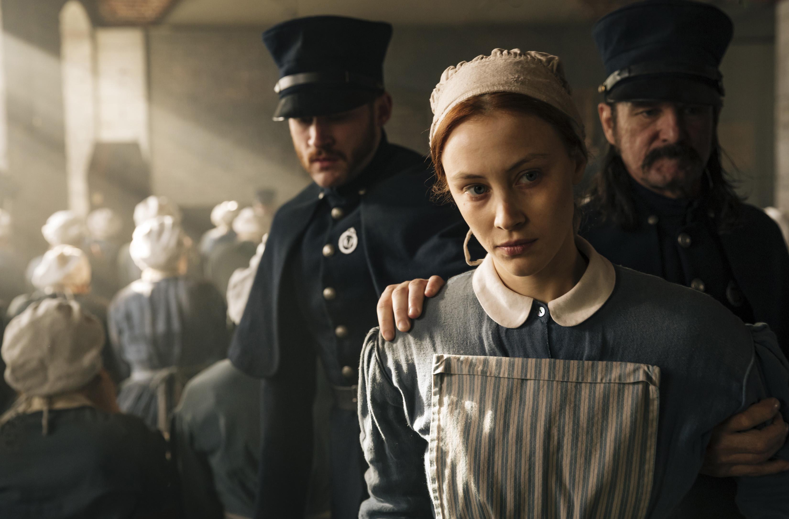 """Sarah Gadon comme Grace Marks dans Netflix """"Alias Grace."""""""