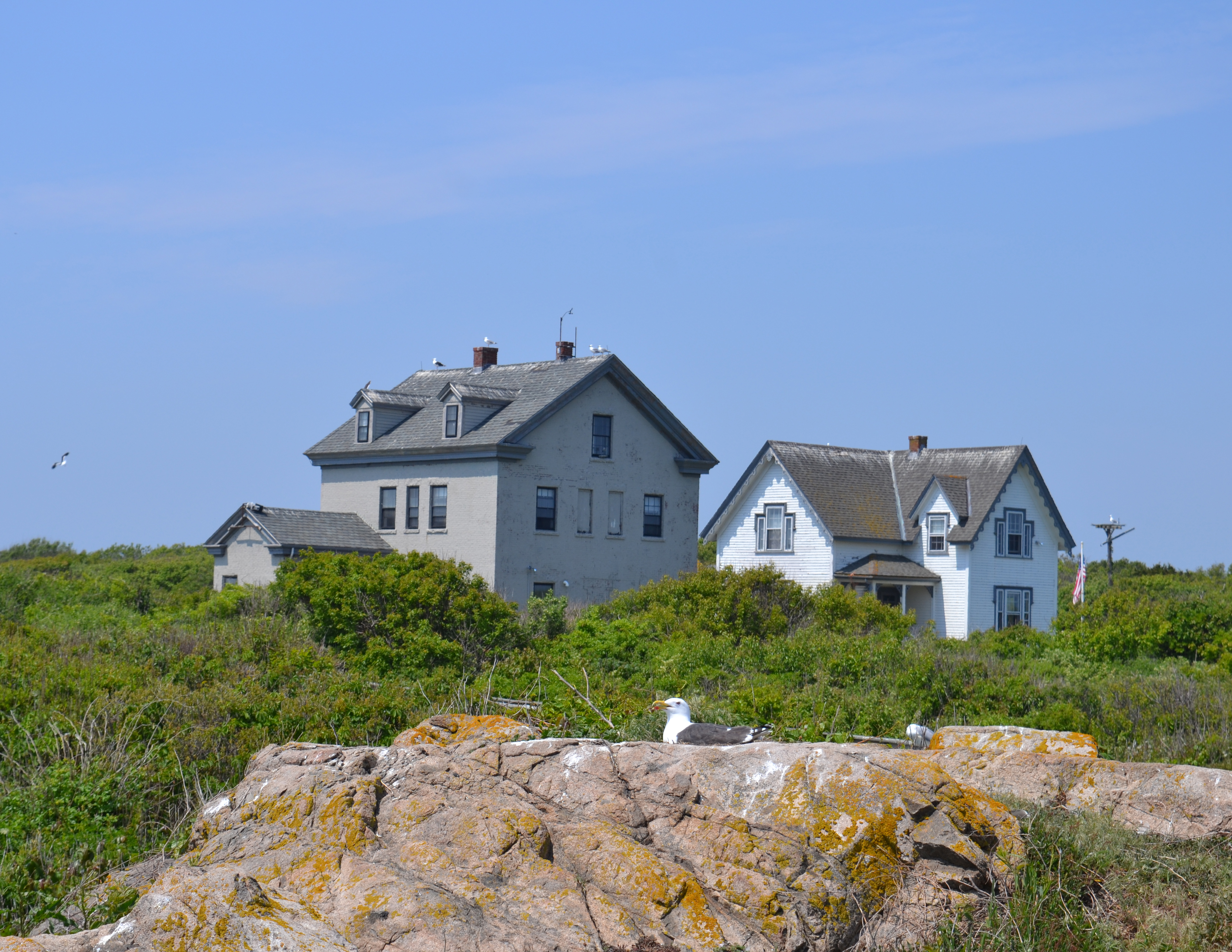 The keeper's houses on Thacher Island now house a small museum.  At one time, in the late 1800s, five families lived here, with 13 children.