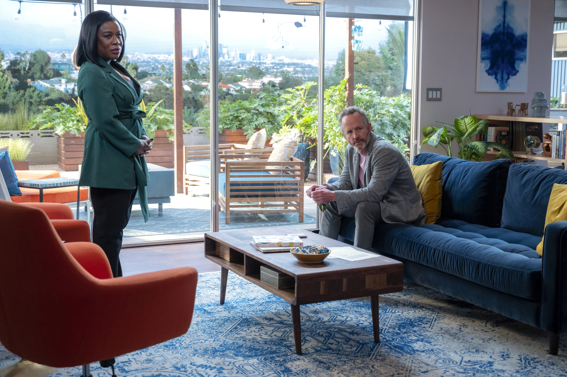 """Uzo Aduba and John Benjamin Hickey in season 4 of the HBO series """"In Treatment."""""""