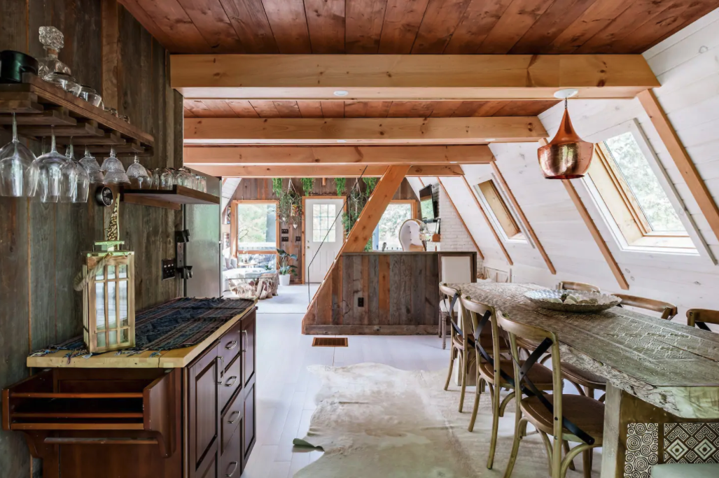 A view of the kitchen of the Canopy House.