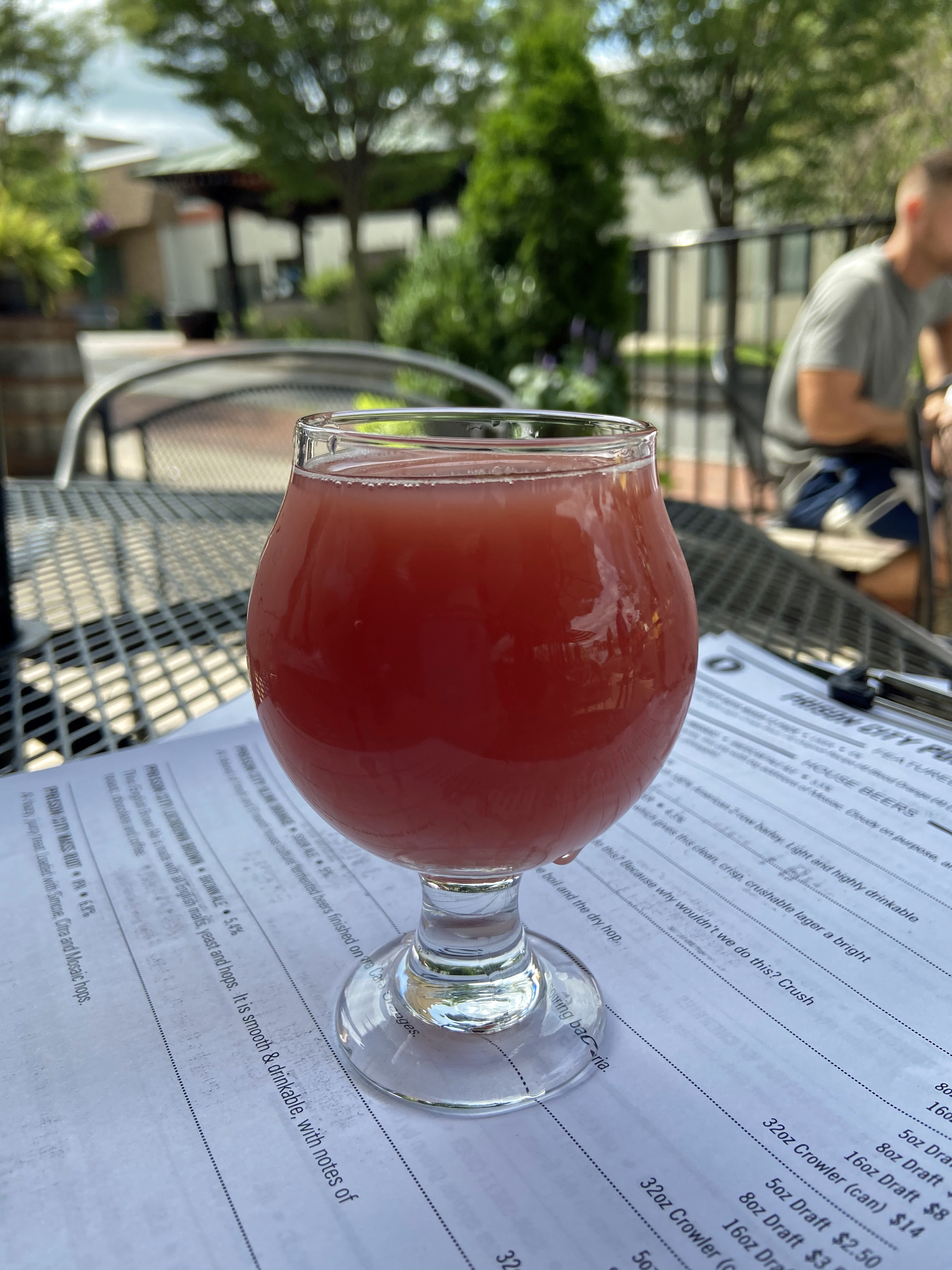 Across from a prison in Auburn, Prison City Brewery in Auburn serves great drinks (blood orange plays a role in this one) and good food. The Finger Lakes region is known for its good food and wine trail.