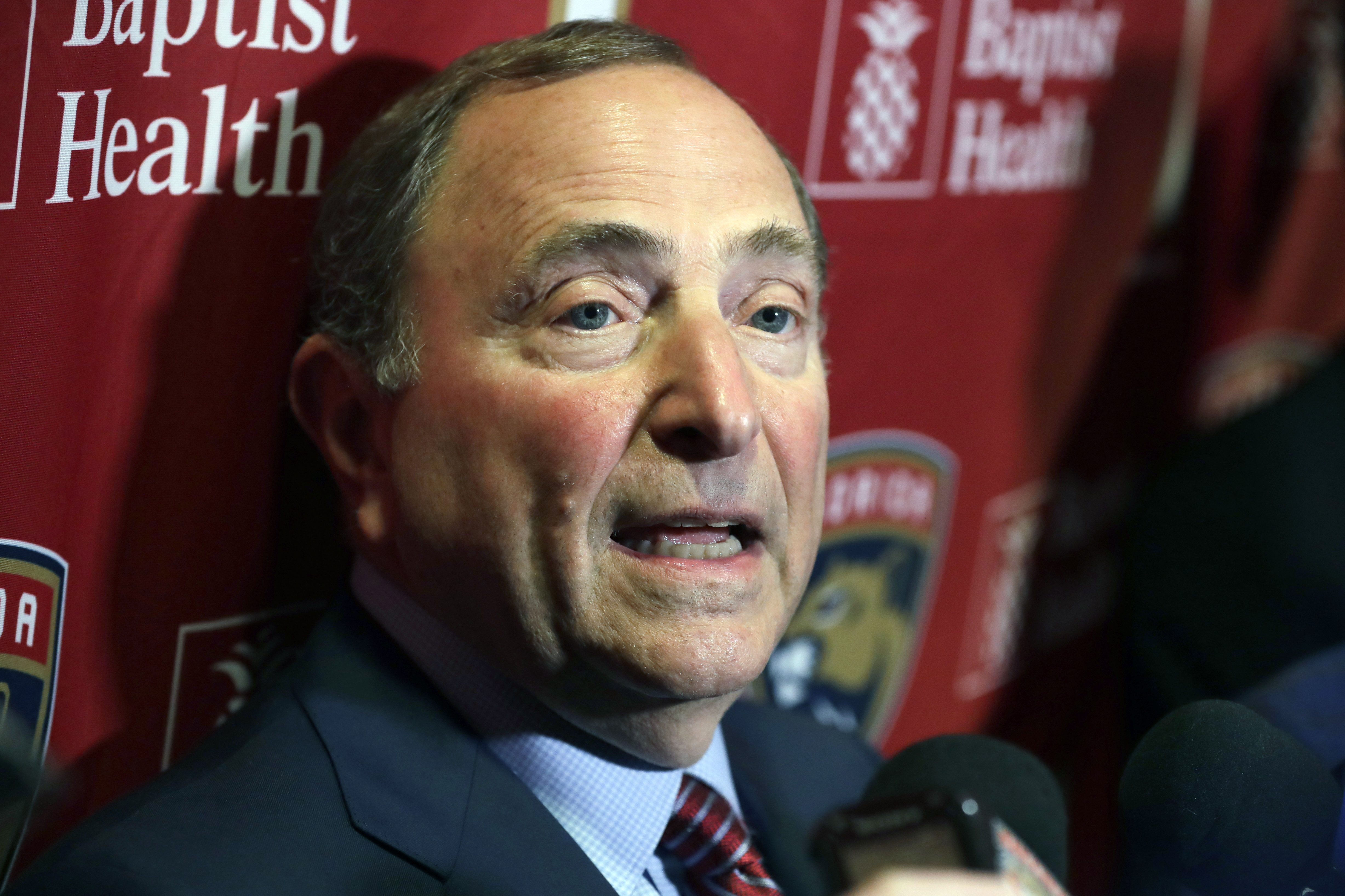 Commissioner Gary Bettman said the NHL has concerns over the feasibility of sending players to the Olympics next winter.