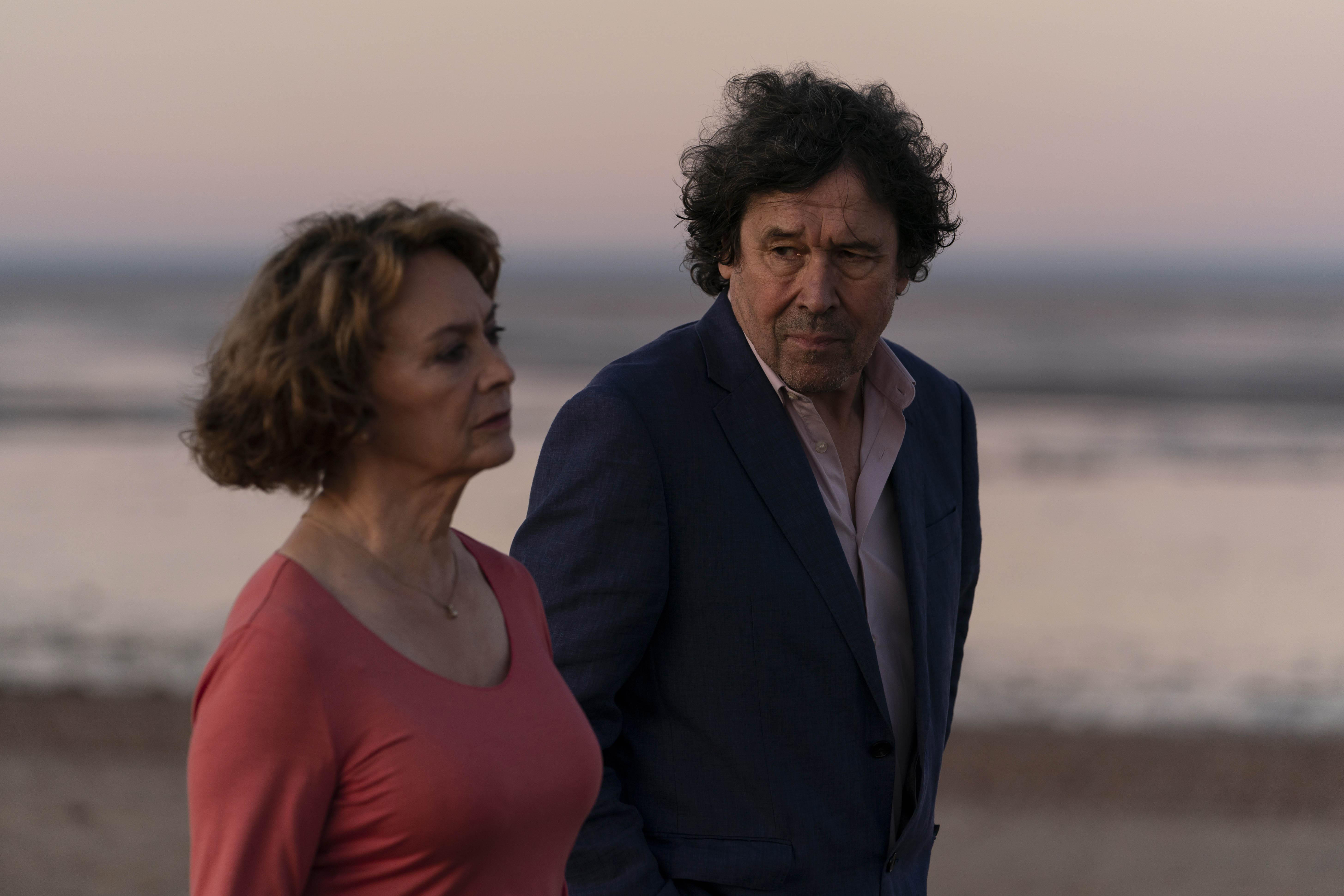 """Francesca Annis and Stephen Rea in """"Flesh and Blood"""" on PBS's """"Masterpiece."""""""