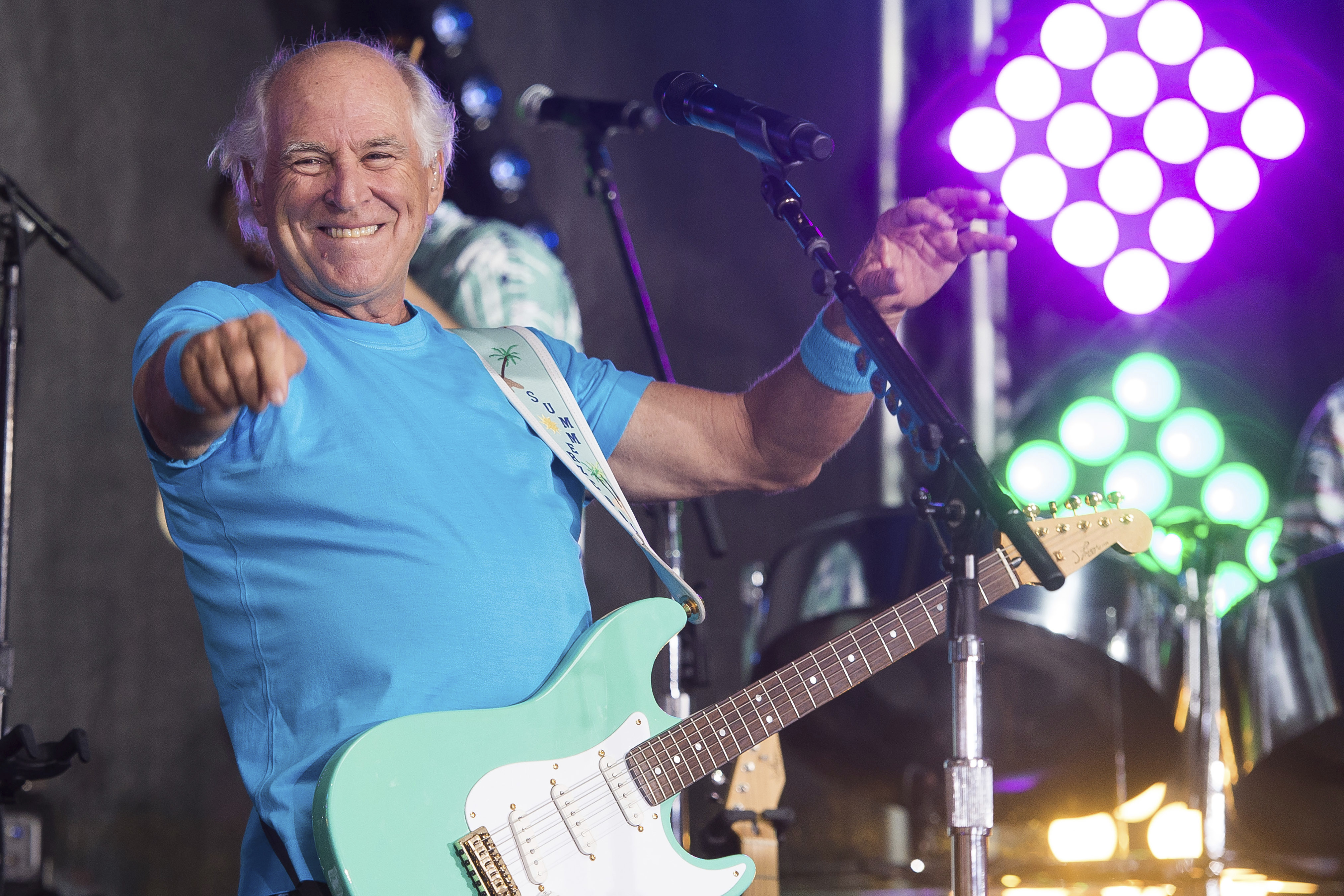 Jimmy Buffett returns to the region with a show at the Xfinity Center on August 14.