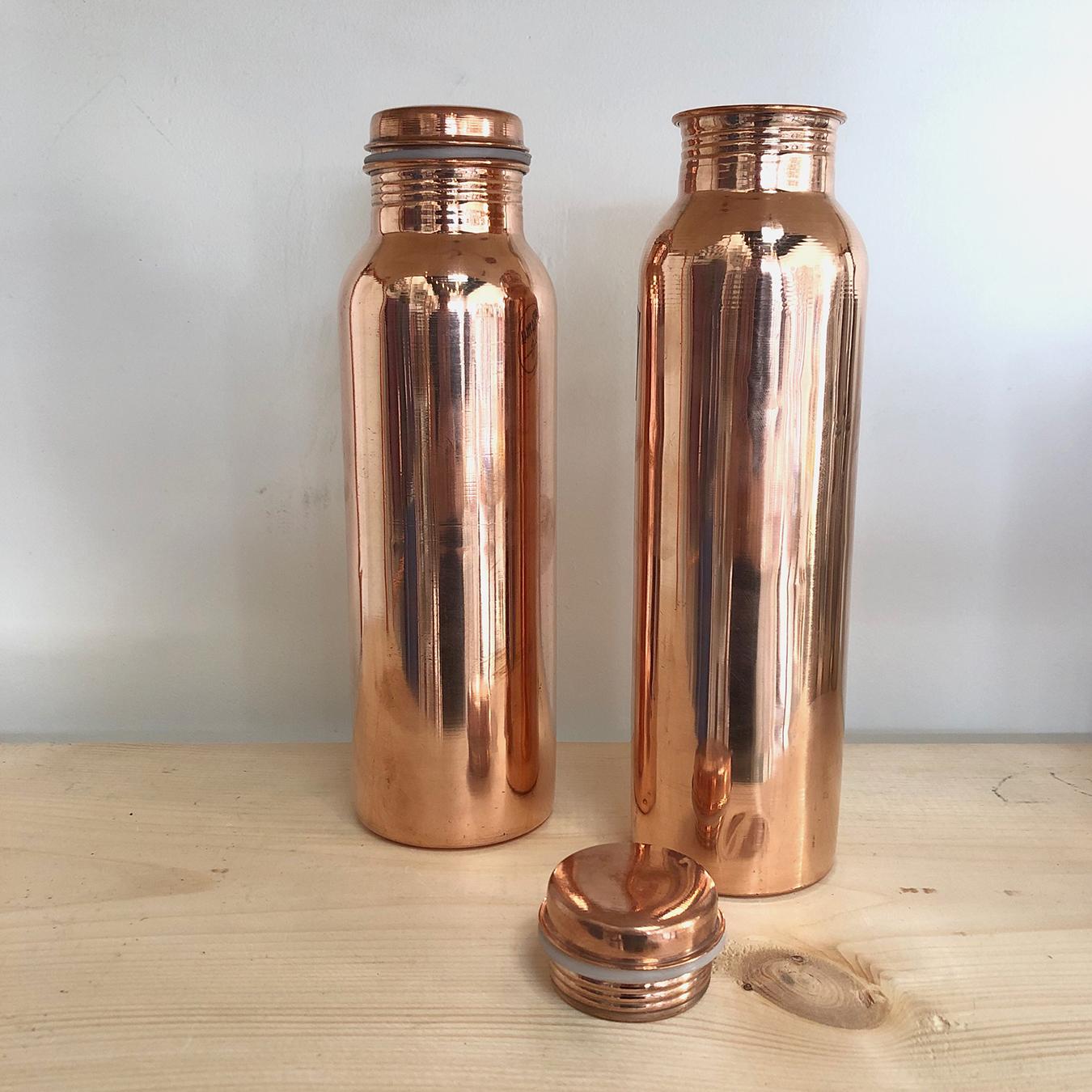 Botellas de agua de cobre