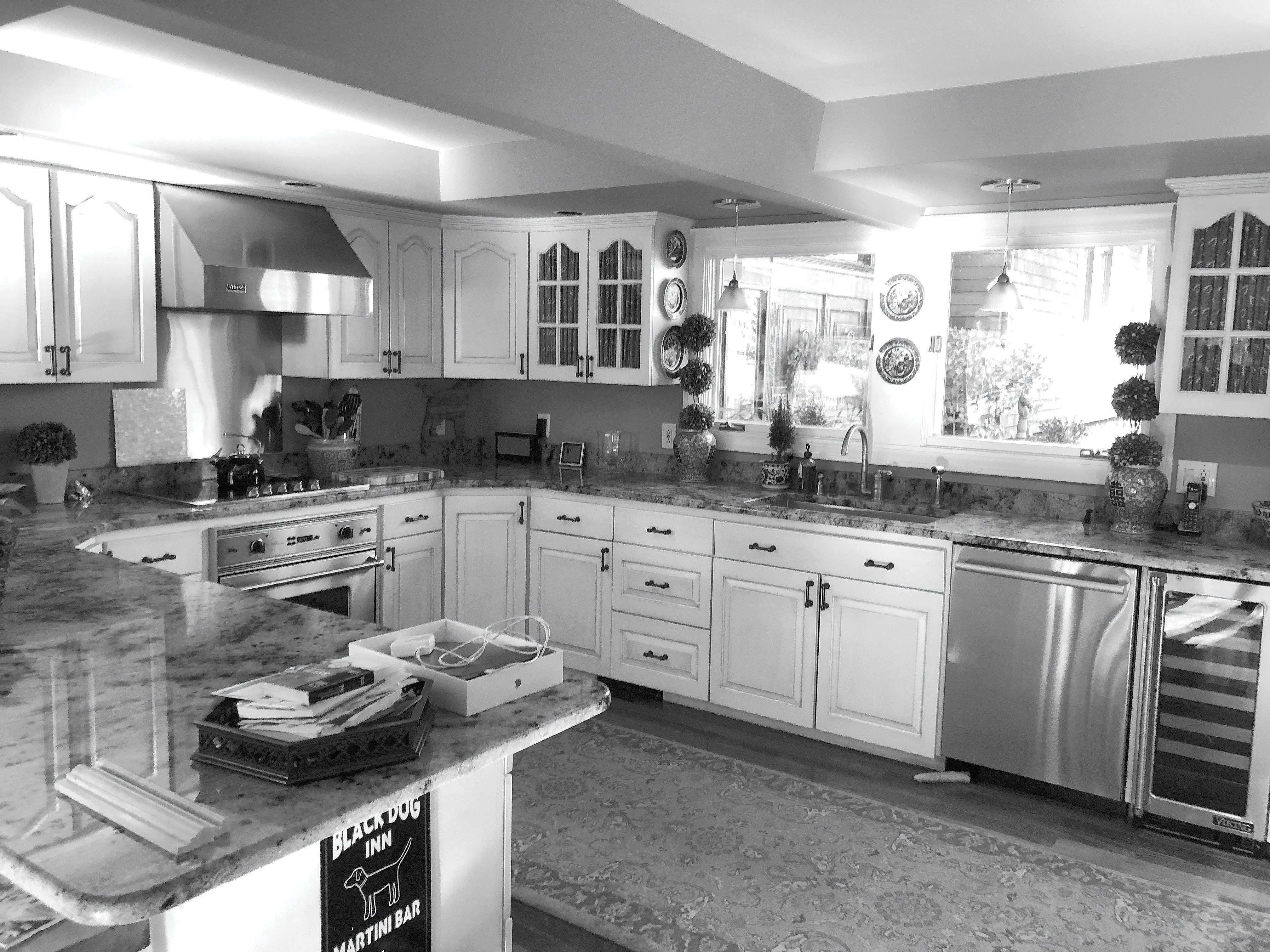 The kitchen before the renovation project was completed.