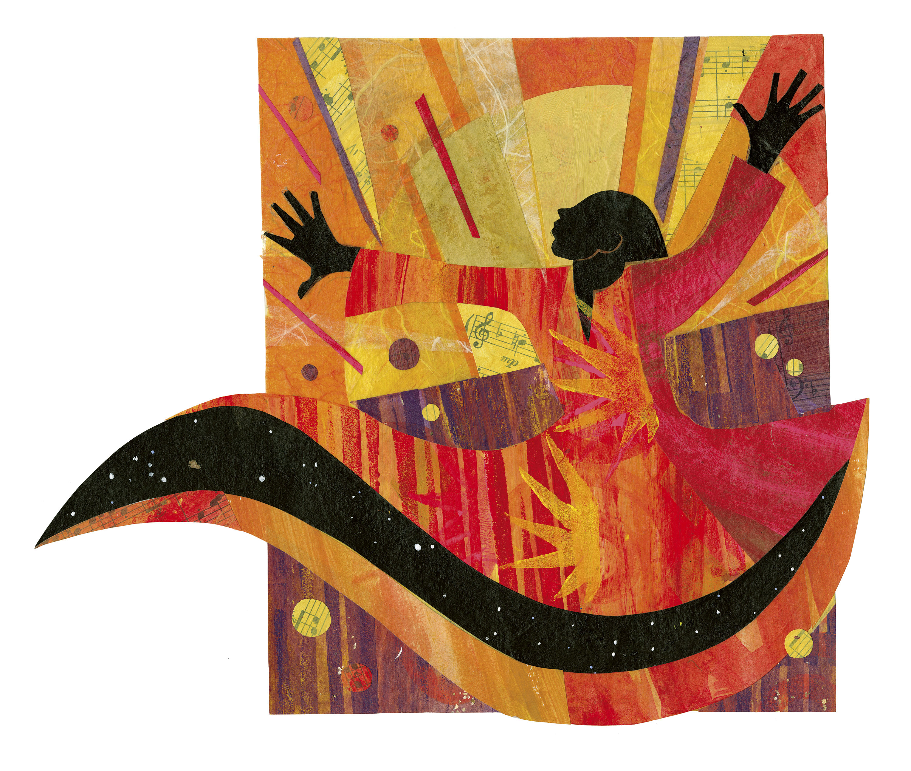"""An illustration by Ekua Holmes for the children's poetry book """"Out of Wonder."""""""