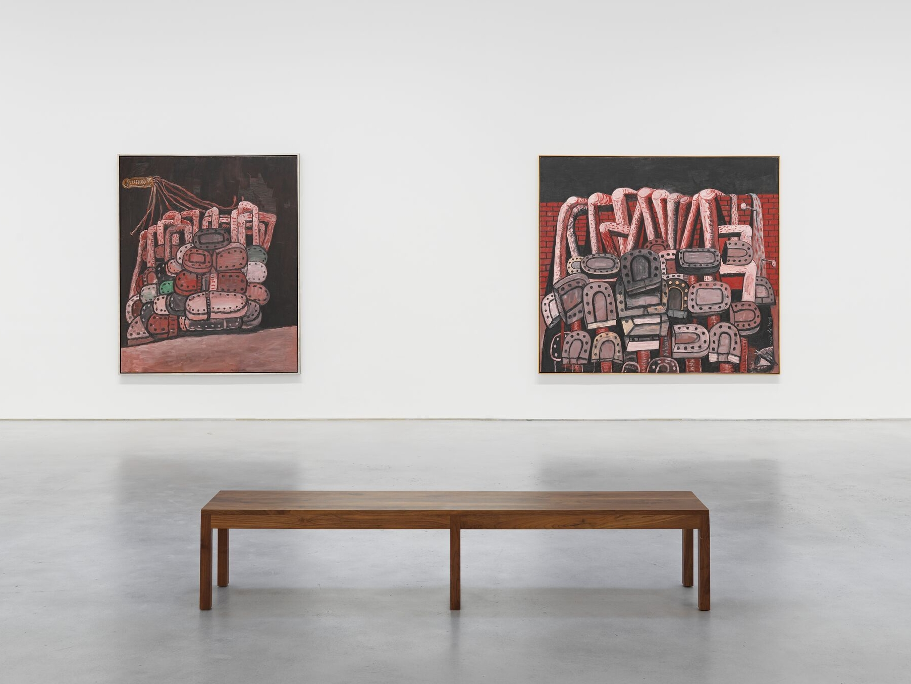 """Among the works exhibited at """"Philippe Guston.  1969-1979,"""" are """"Night Room"""" and """"Ancient wall."""""""