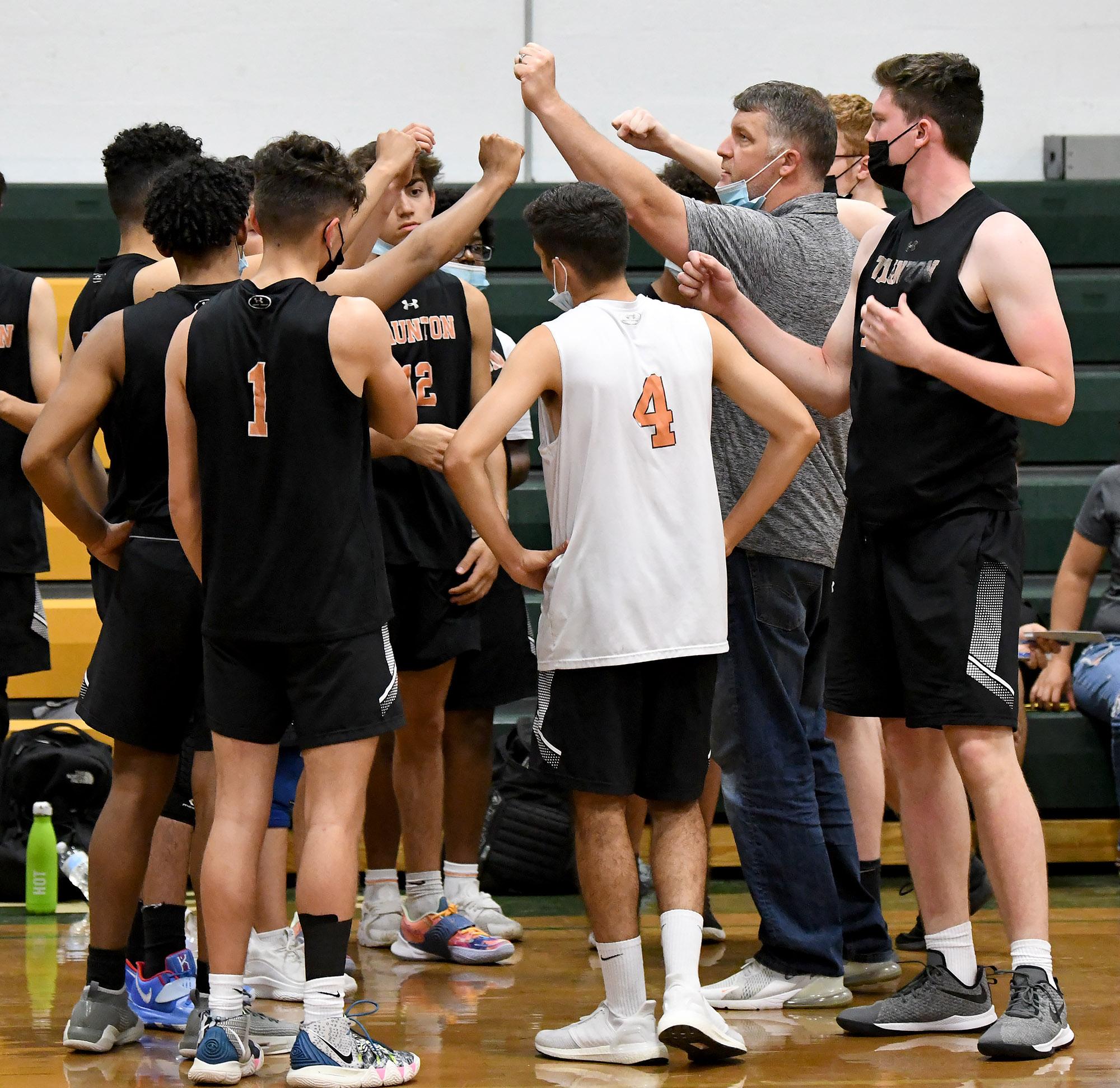 Taunton High boys volleyball coach Toby Chaperon has led his team to a strong season.