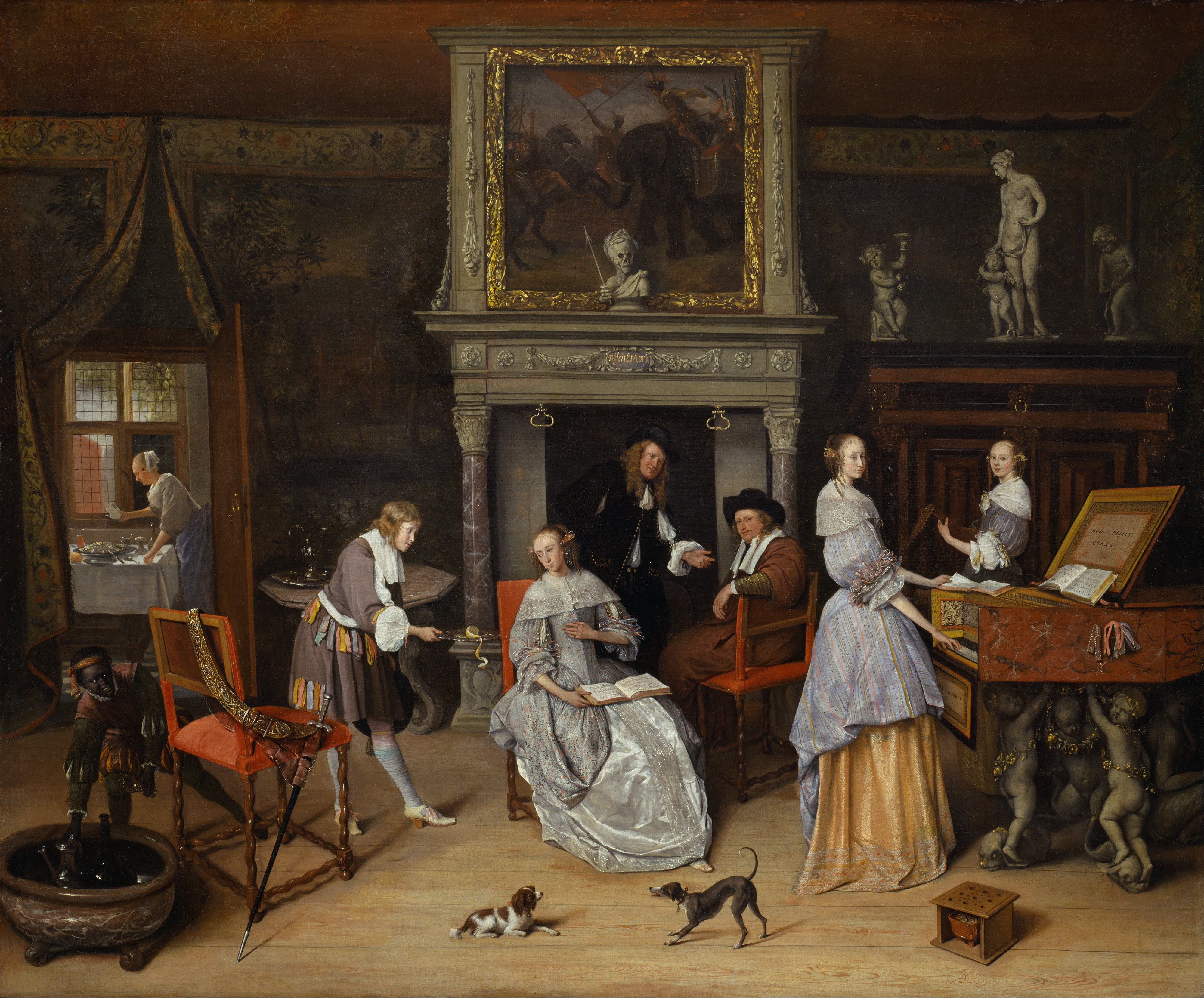 """Jan Steen's """"Fantasy Interior with Jan Steen and the Family of Gerrit Schouten"""" from 1659 or 1660. The painting is owned by Kansas City's Nelson-Atkins Museum of Art."""