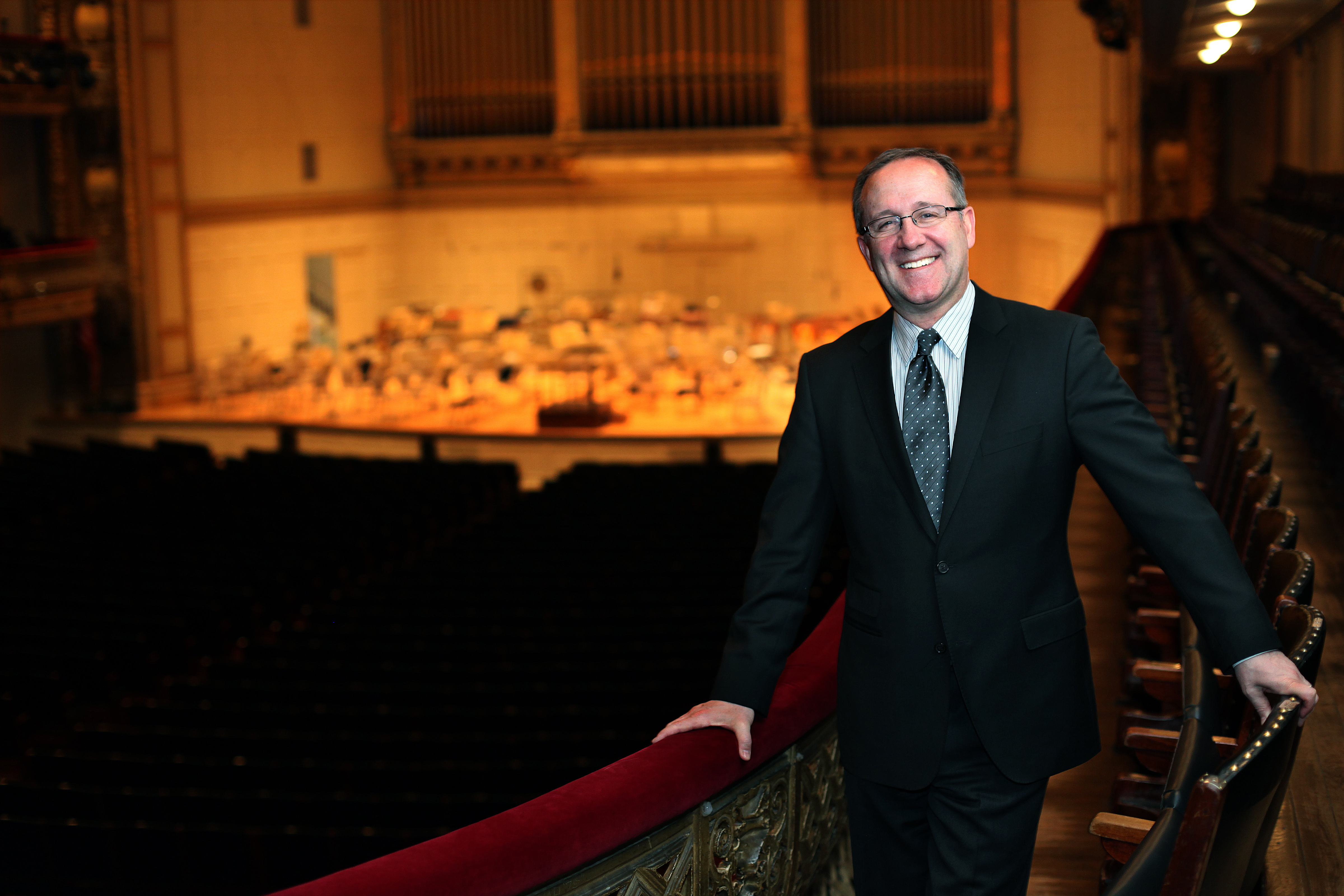 Gary Dunning, President and Executive Director of Celebrity Series of Boston, at Boston Symphony Hall.