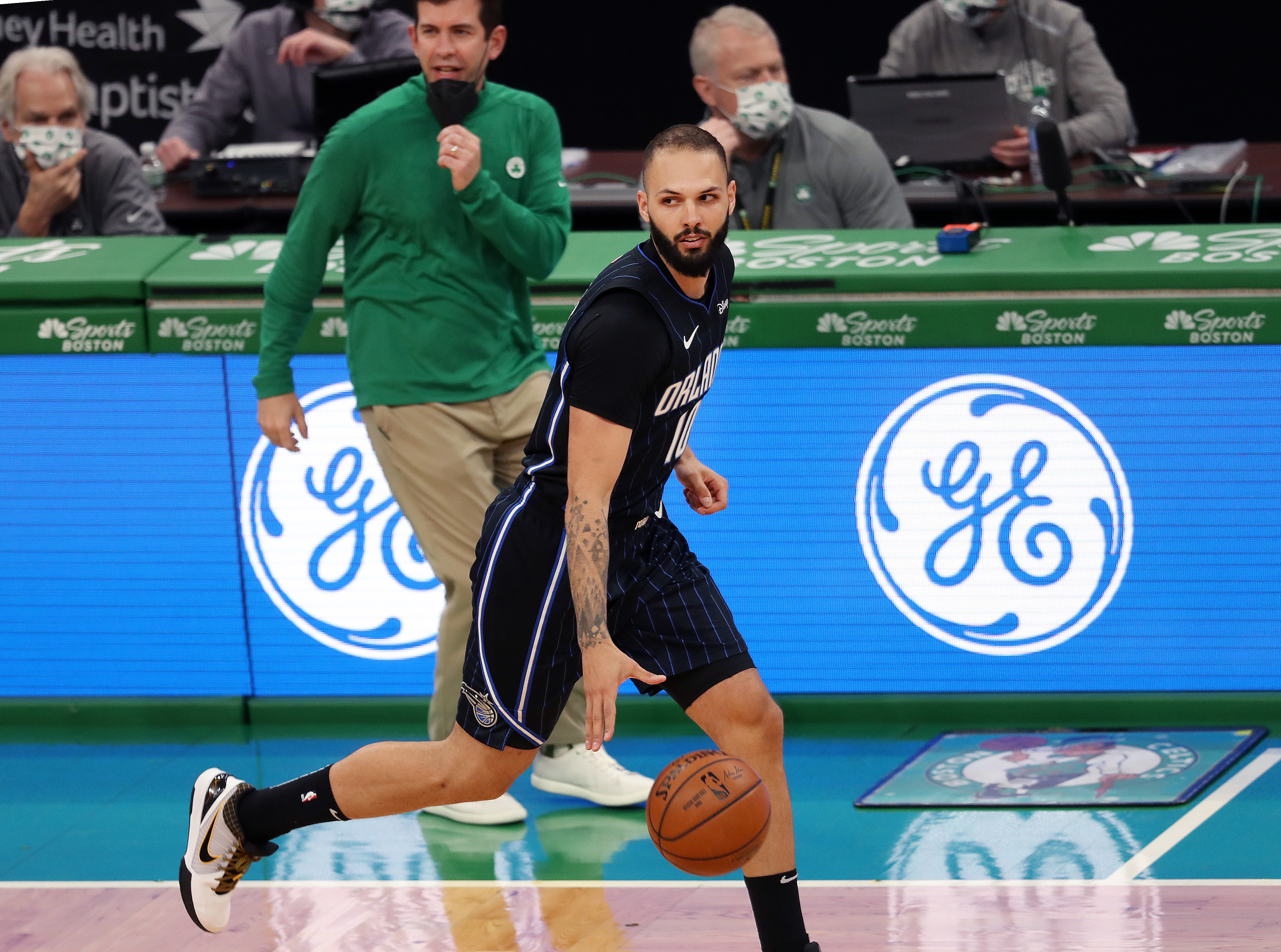 Evan Fournier was traded from the Magic to the Celtics on Thursday.